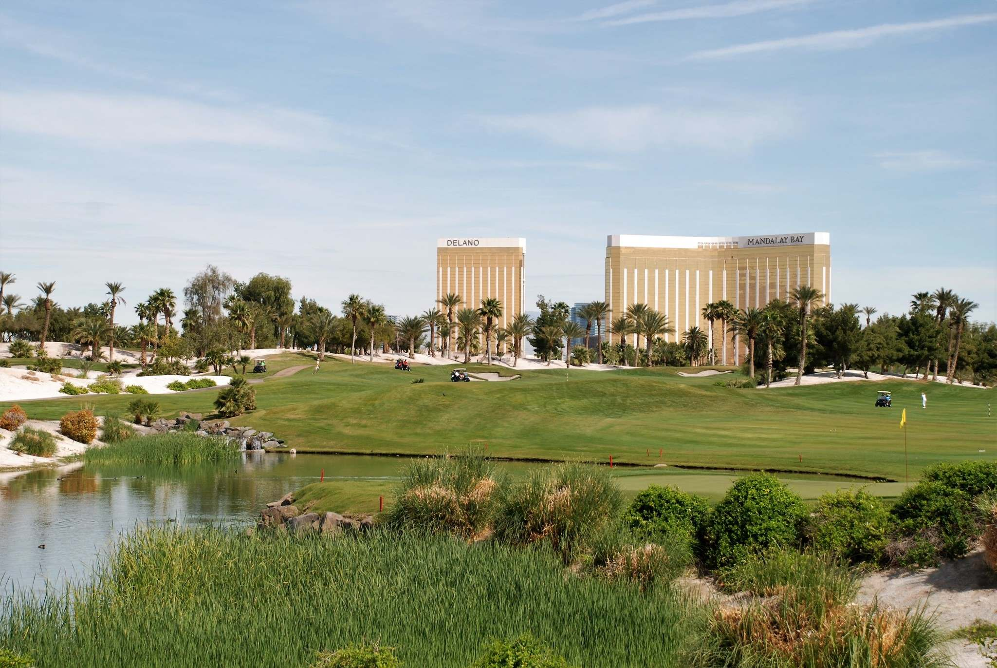 Photos by Ron Pradinuk / Winnipeg Free Press</p><p>Once out of town, the Bali Hai Golf Club now is in the shadows of the Mandalay Bay and Delano Hotel properties.</p>