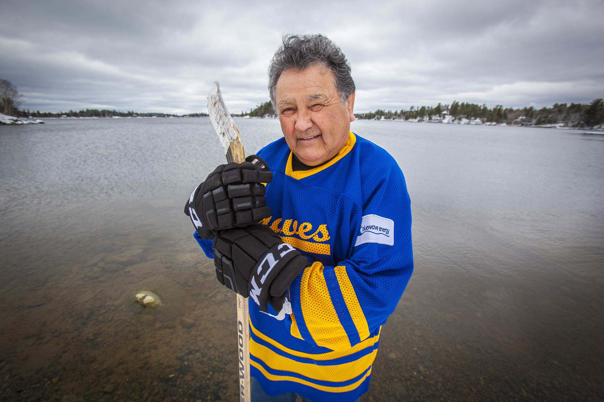 TOM THOMSON / WINNIPEG FREE PRESS</p><p>George Kakeyway was captain of team in early 1960&#39;s. He later became chief of Rat Portage First Nations.</p>