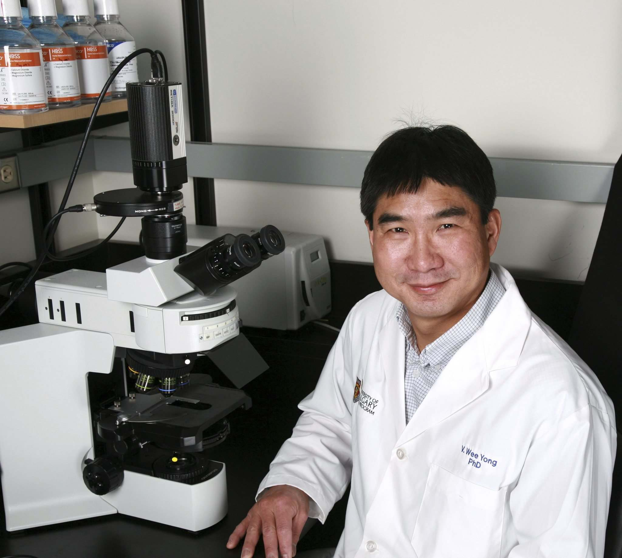 SUPPLIED</p><p>New treatments promote the repair of myelin, which MS ravages, says Dr. Wee Yong.</p></p>