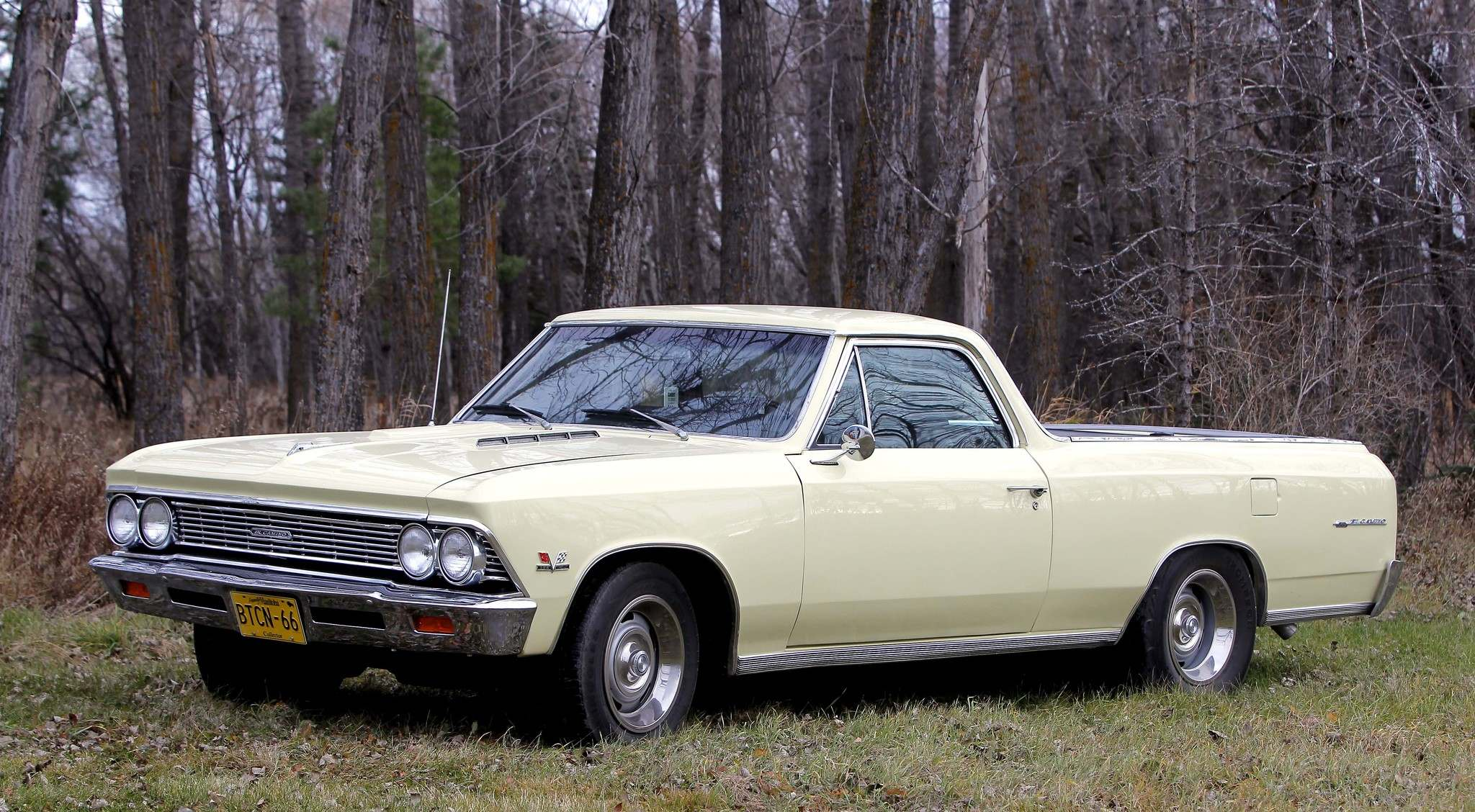 This 1966 Chevrolet El Camino is a factory big-block car with the ability to do some light hauling.