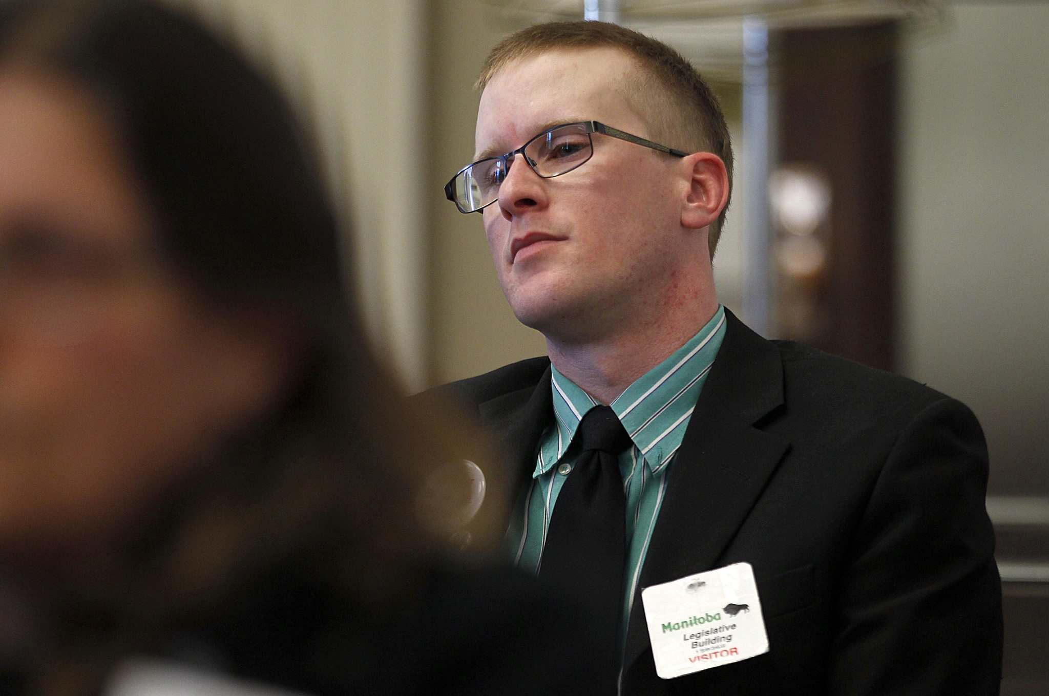 <p>Pot advocate and medicinal marijuana user Steven Stairs at a committee hearing on marijuana at the legislature on Tuesday.</p>