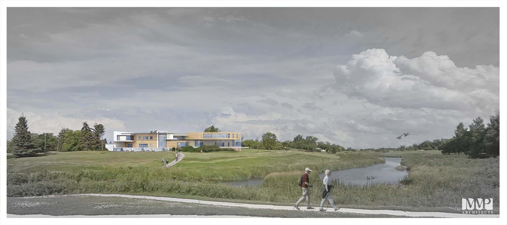 <p>Rendering of the Bruce Oake Treatment Facility. (mmparchitects)</p>
