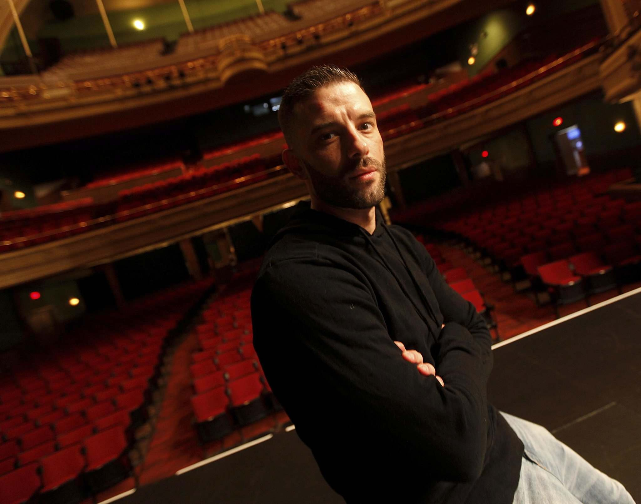 <p>Darcy Oake at the Burton Cummings Theatre.</p>