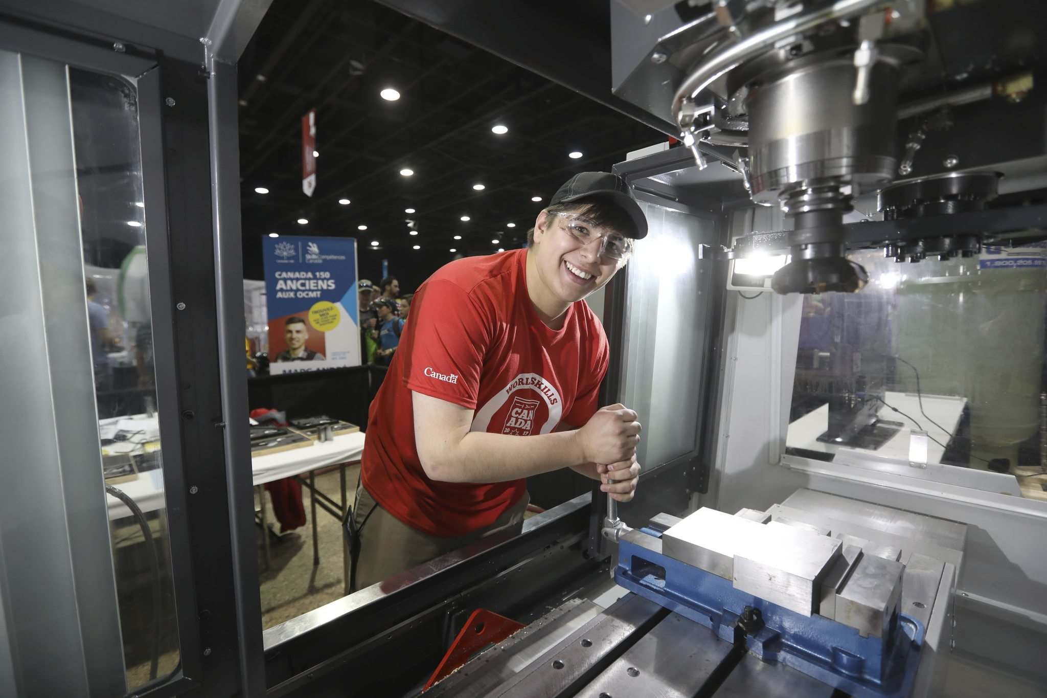 RUTH BONNEVILLE / WINNIPEG FREE PRESS</p><p>Silas Meeches, a graduate of RRC's manufacturing technician's program, perfects his skills Thursday.</p>
