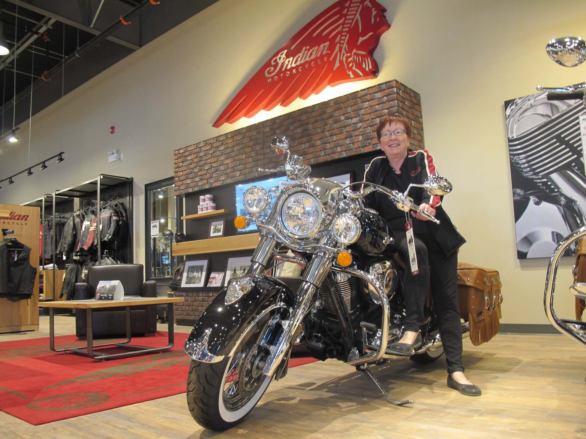 Willy Williamson / Winnipeg Free PressJill Ruth of Indian Motorcycle of Winnipeg.