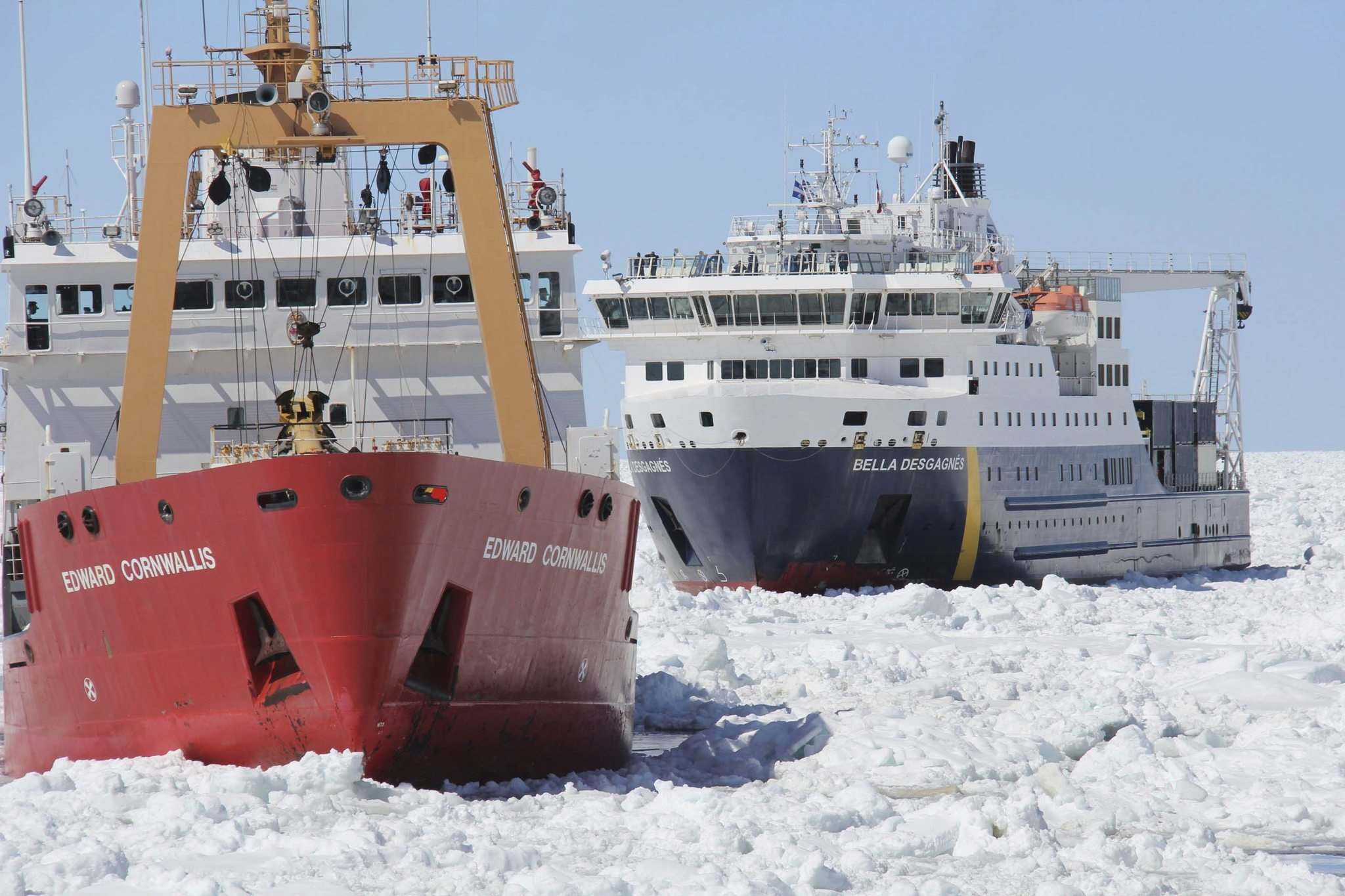 The icebreaker being used by the arctic researchers of the BaySys project is a scientific research ship, but it can be redirected by the Canadian Coast Guard if its icebreaking capabilities are needed.