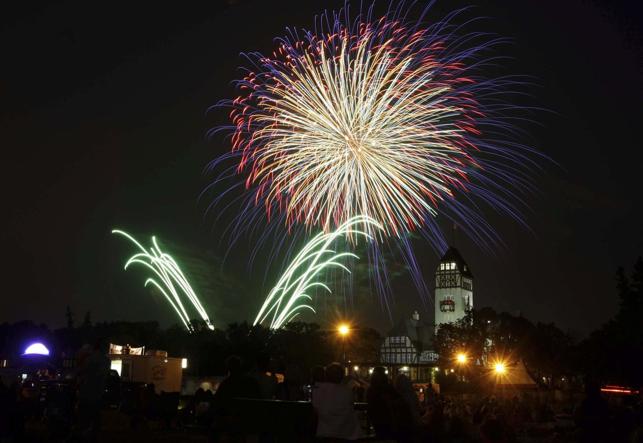 <p>Canada Day fireworks at Assiniboine Park</p>