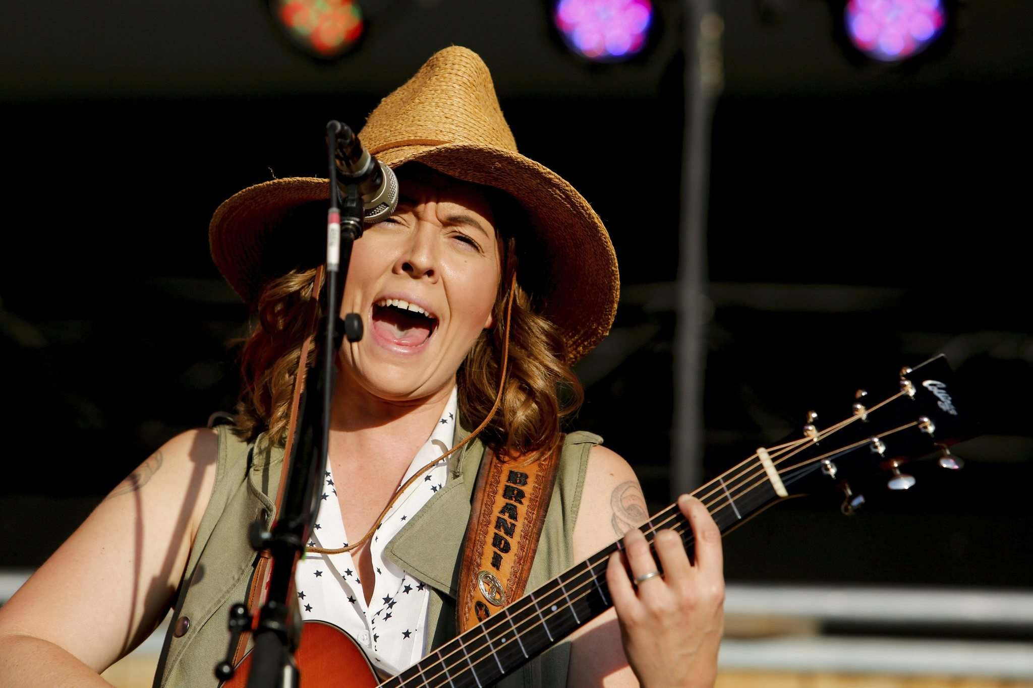<p>Americana artist Brandi Carlile of Seattle, Wash., performs on the Main Stage Thursday as the Winnipeg Folk Festival kicks off. Carlile told the boisterous crowd she loves the 'vibes' when playing in Canada.</p></p>