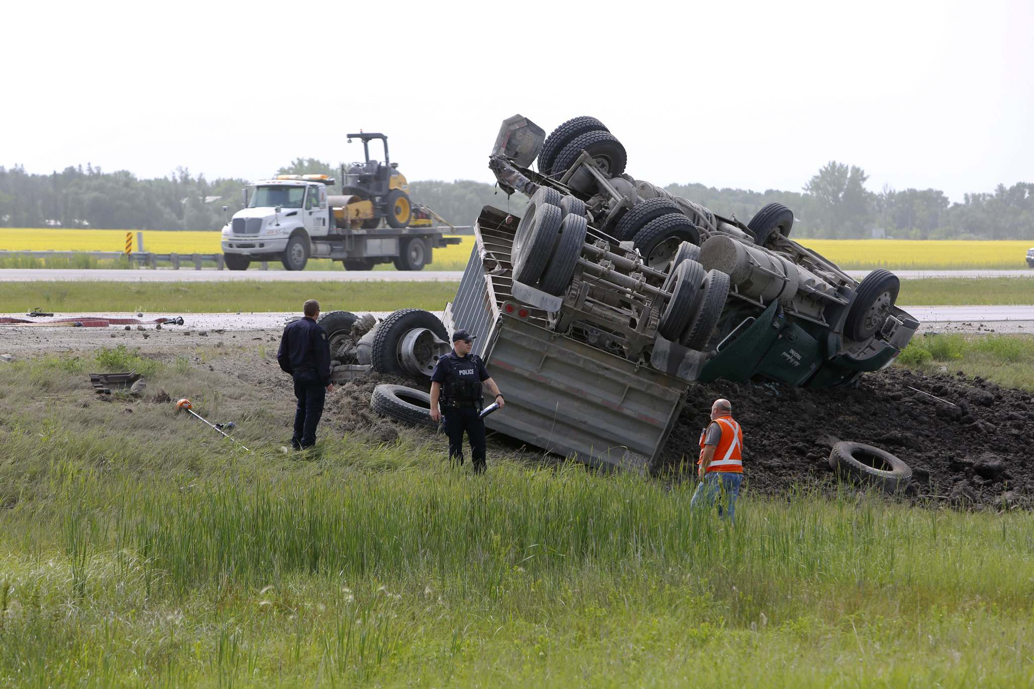 Steinbach man dies in collision on Highway 75