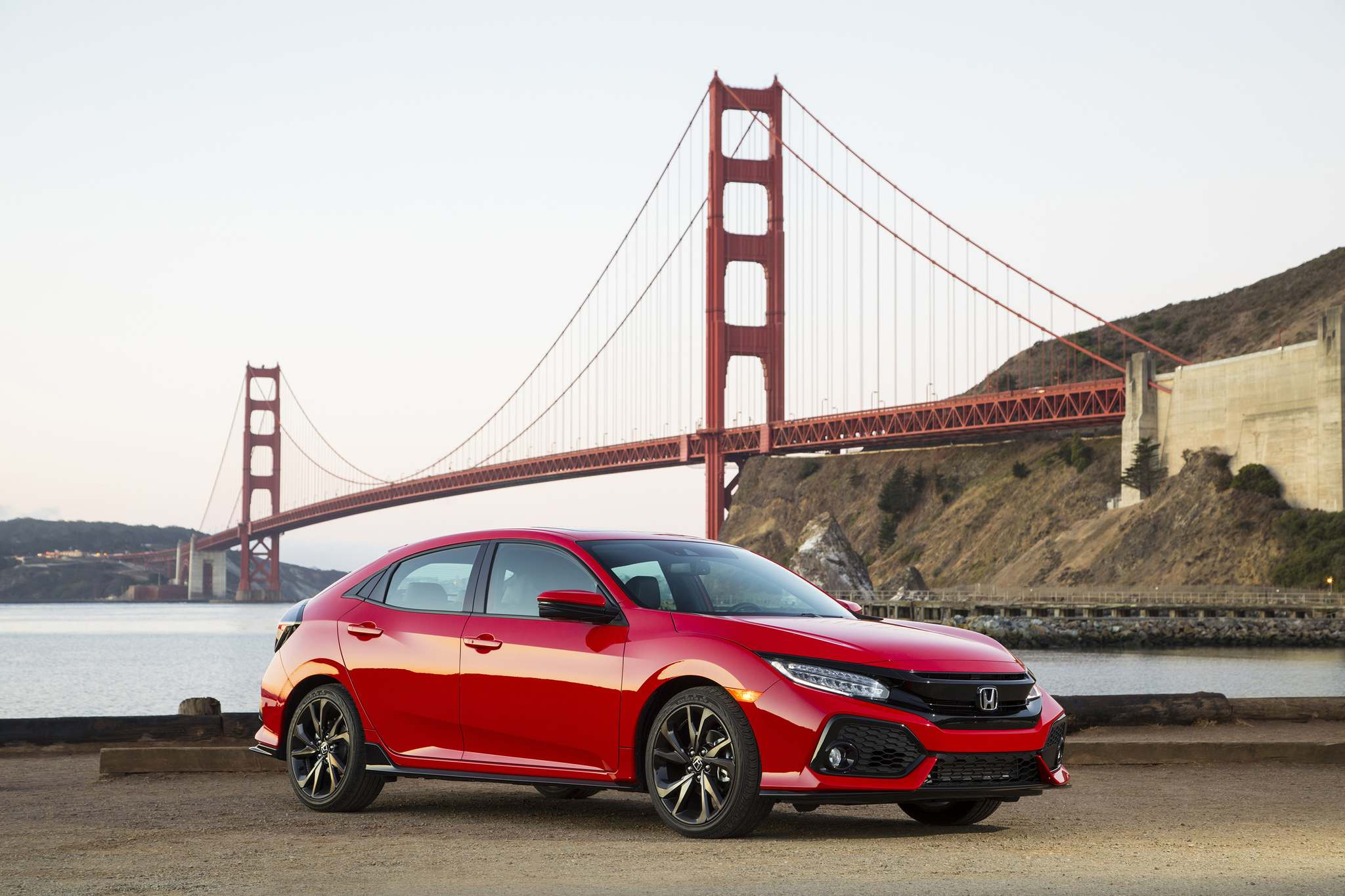 Photos by HondaThe 2017 Honda Civic Hatchback's overall proportions are likeable and more appealing than the sedan.