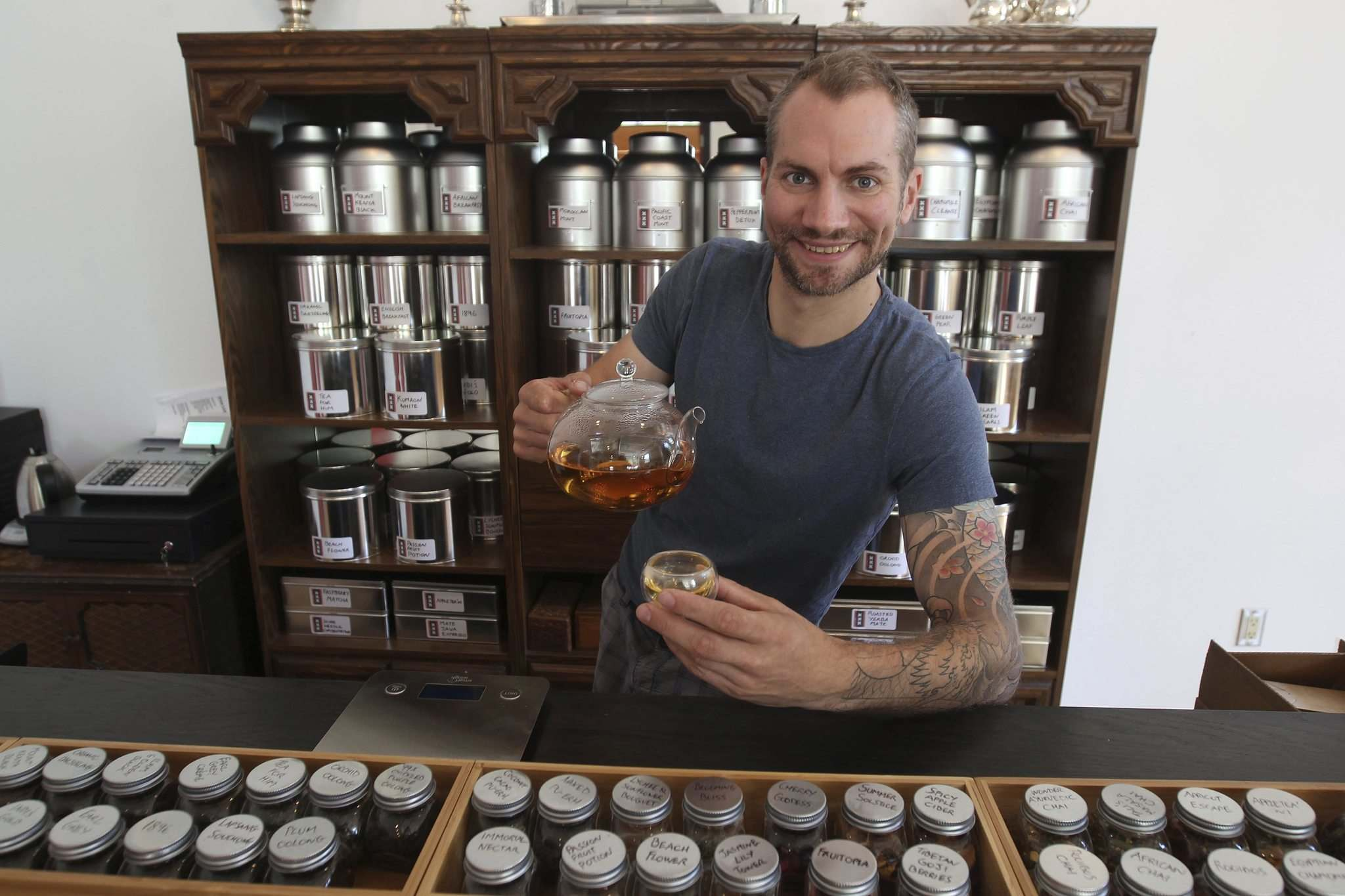 JOE BRYKSA / WINNIPEG FREE PRESS</p><p>Mark Turne at Amsterdam Tea Room on Bannatyne Avenue.</p>