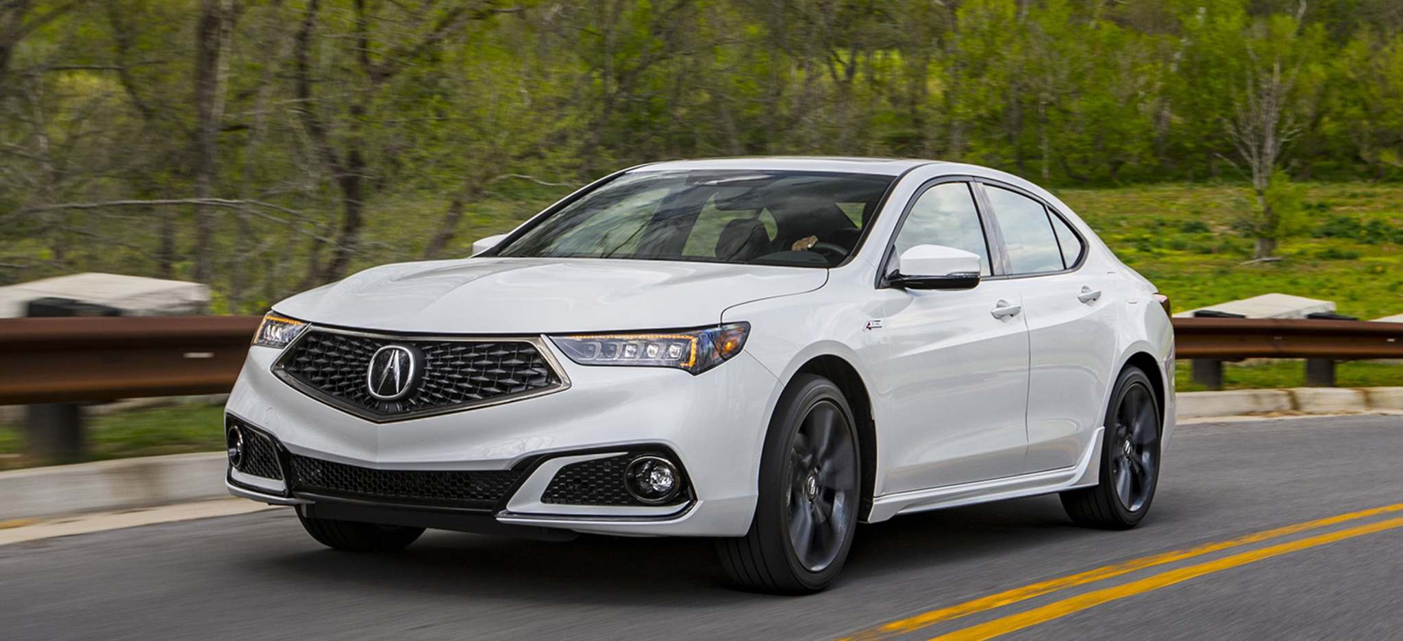 The 2018 Acura TLX features a handsome new grille.
