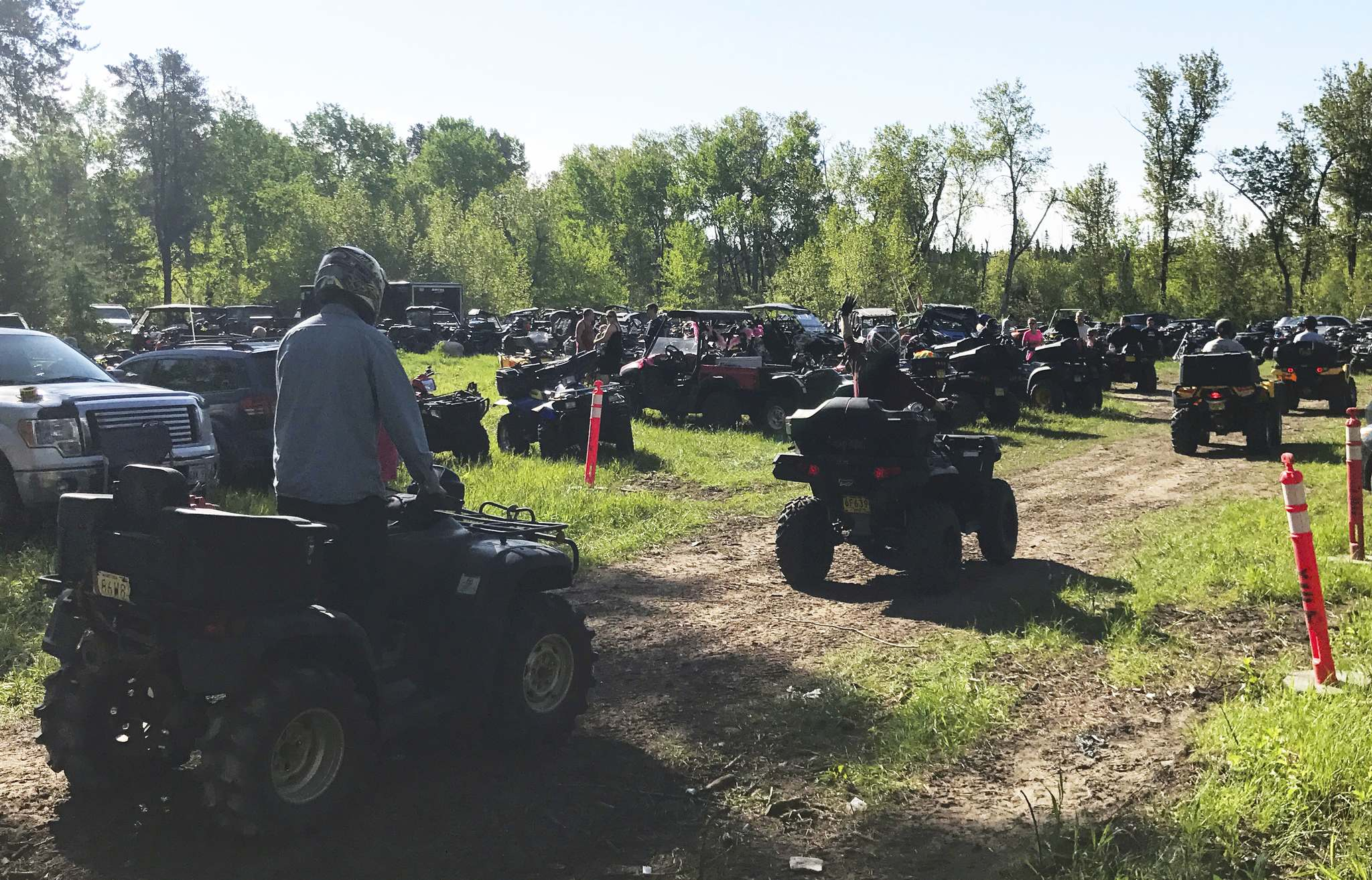 photos by willy williamson / winnipeg free pressMore than 800 riders participated in the second annual Ride for Mom, which took place on the Eastman ATV Association's marked trail in the Sandilands Provincial Forest and raised almost $13,000 for Cancer Care Manitoba.