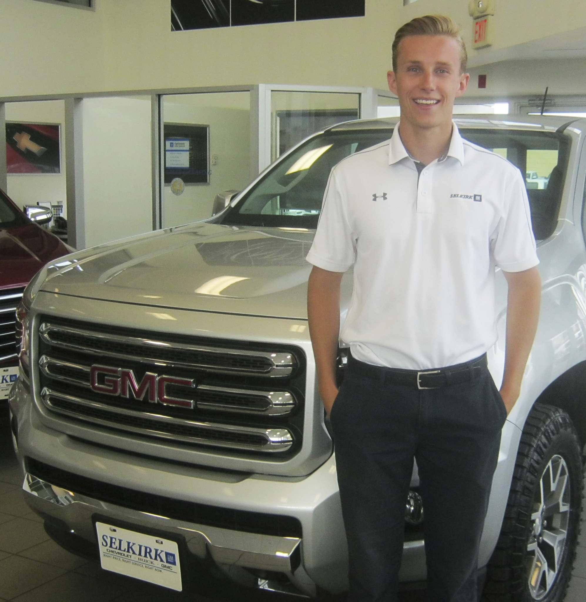 Myron LoveAt just 22, Josh Isfjord has broken the monthly sales record at Selkirk Chevrolet Buick GMC.