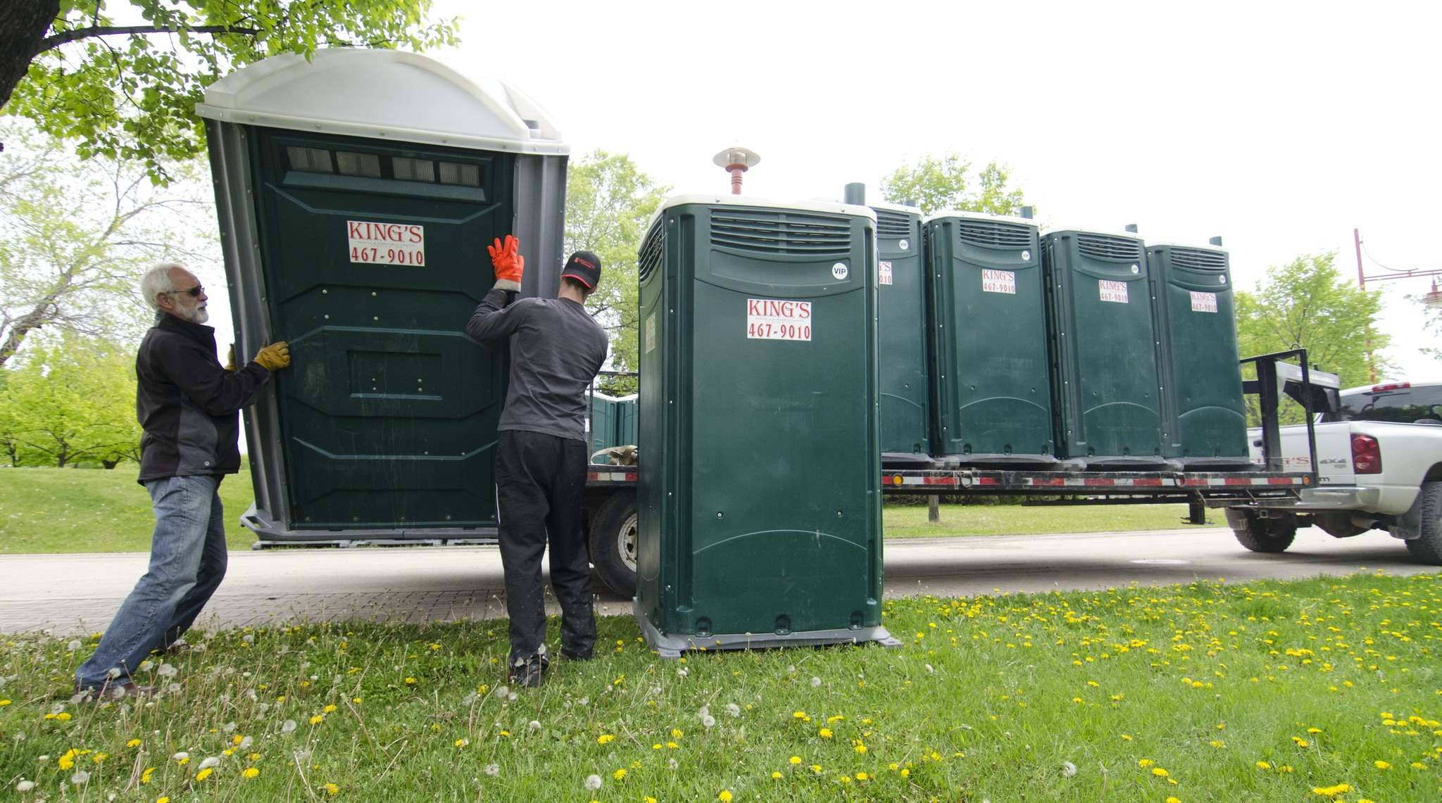 David Lipnowski / Winnipeg Free Press Files</p><p>Portable toilets are temporarily provided for events such as festivals, but there is a lack of permanent outdoor toilets in downtown Winnipeg.</p>