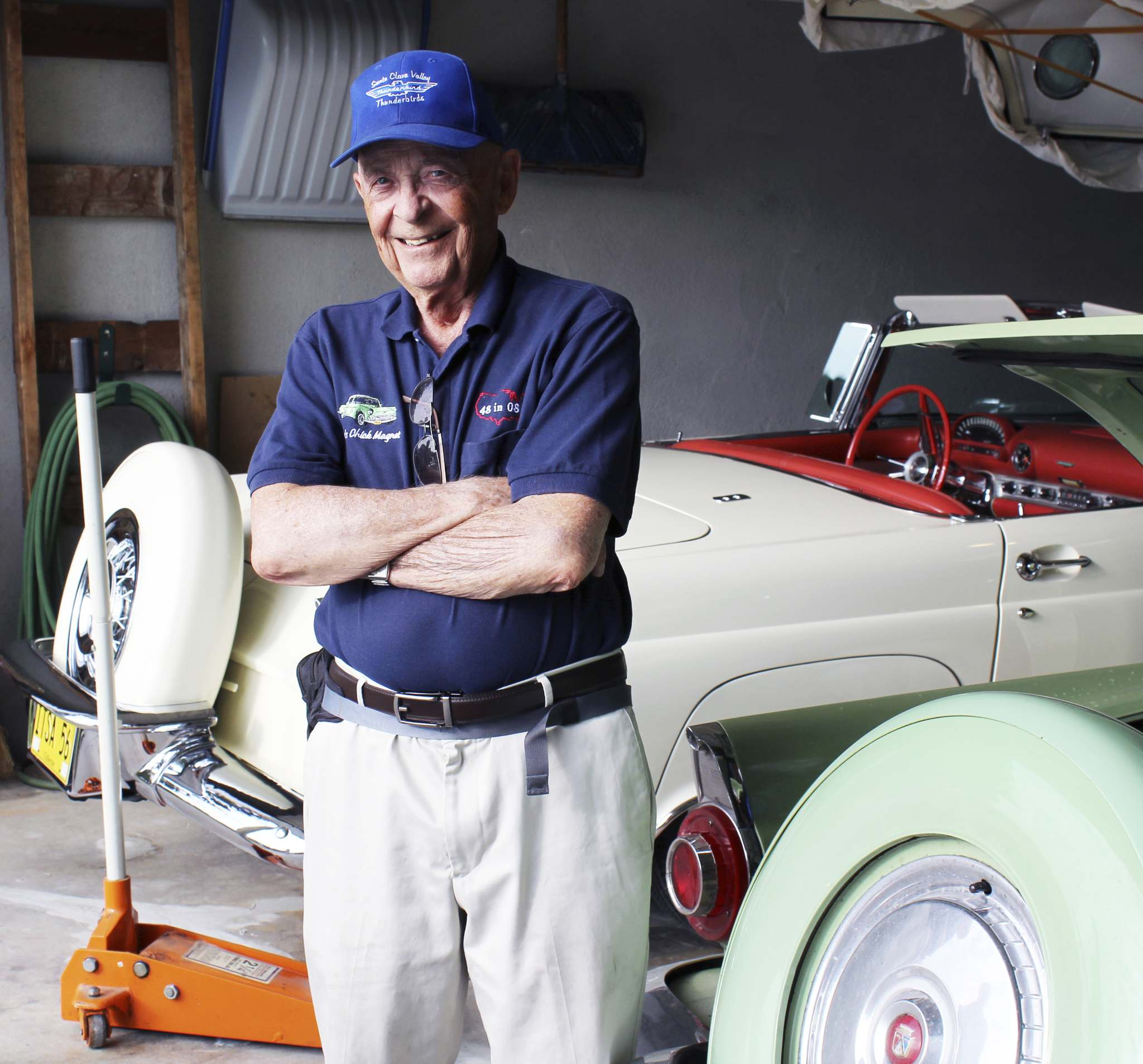 Ortwine 'Doc' Dockter, from California, had his T-Bird repaired here in Winnipeg. (Larry D'Argis / Winnipeg Free Press)