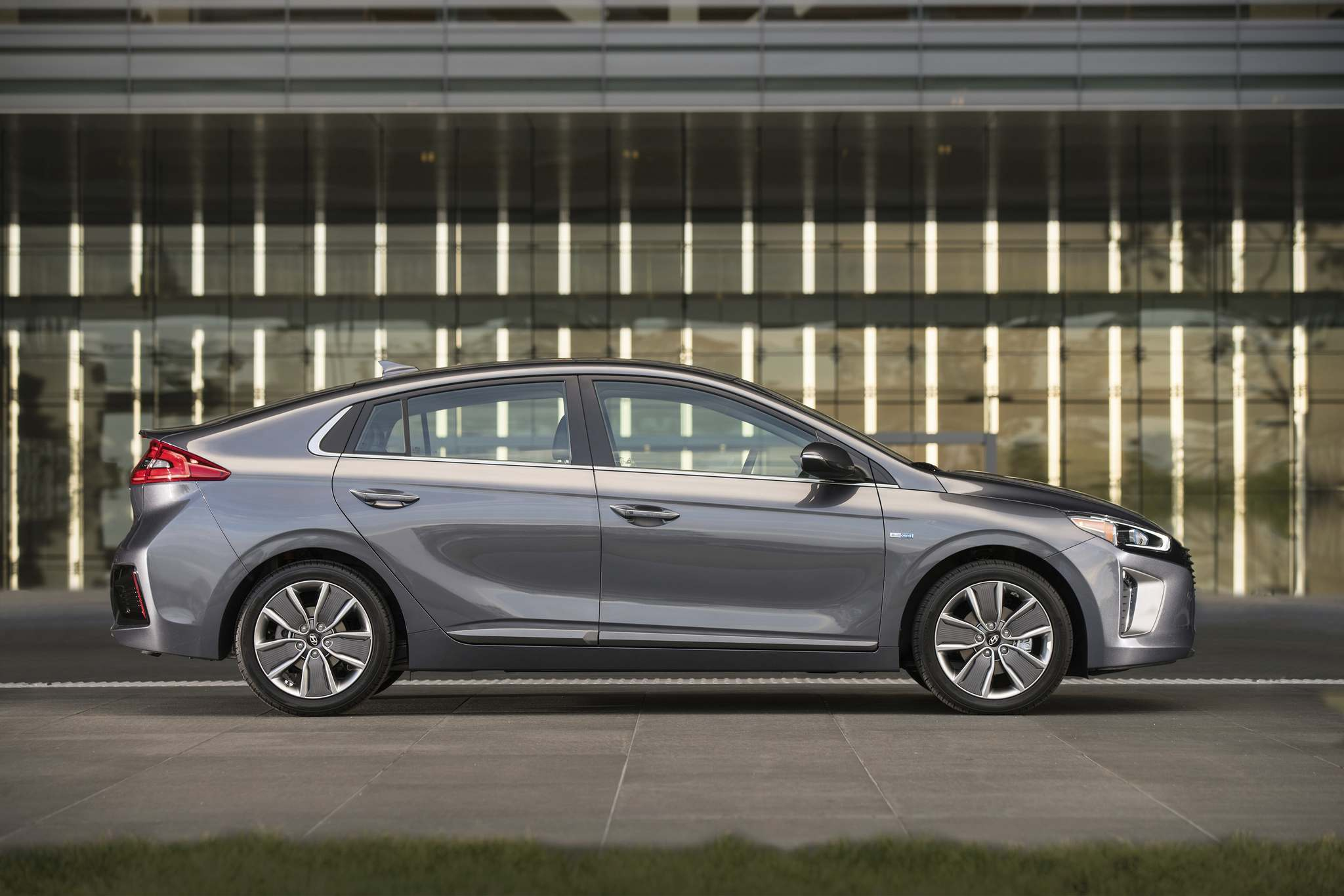 The Ioniq sacrifices power density at the altar of fuel efficiency — an acceptable trade-off when you have the power of an electric motor to add torque. (Hyundai)