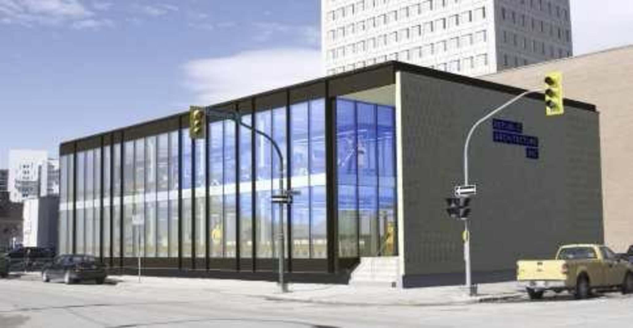 SuppLied</p><p>An artist's rendering of the structure, post-facelift. The building is considered a prime example of mid-century modernist architecture, and will be home to Republic Architecture Inc.</p></p>