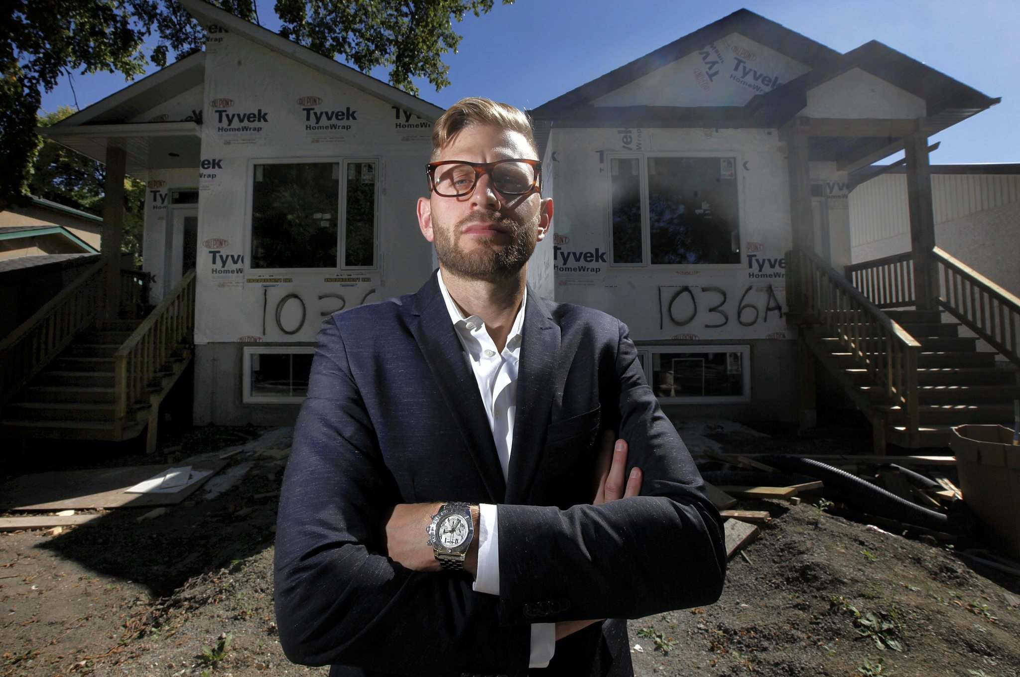 PHIL HOSSACK / WINNIPEG FREE PRESS</p><p>Waterside Development Corp. is building two infill homes on Royse Avenue in Fort Garry. Jon Blumberg of Monopoly Realty says the developer has been building as many as a dozen single-family infill homes a year.</p></p>
