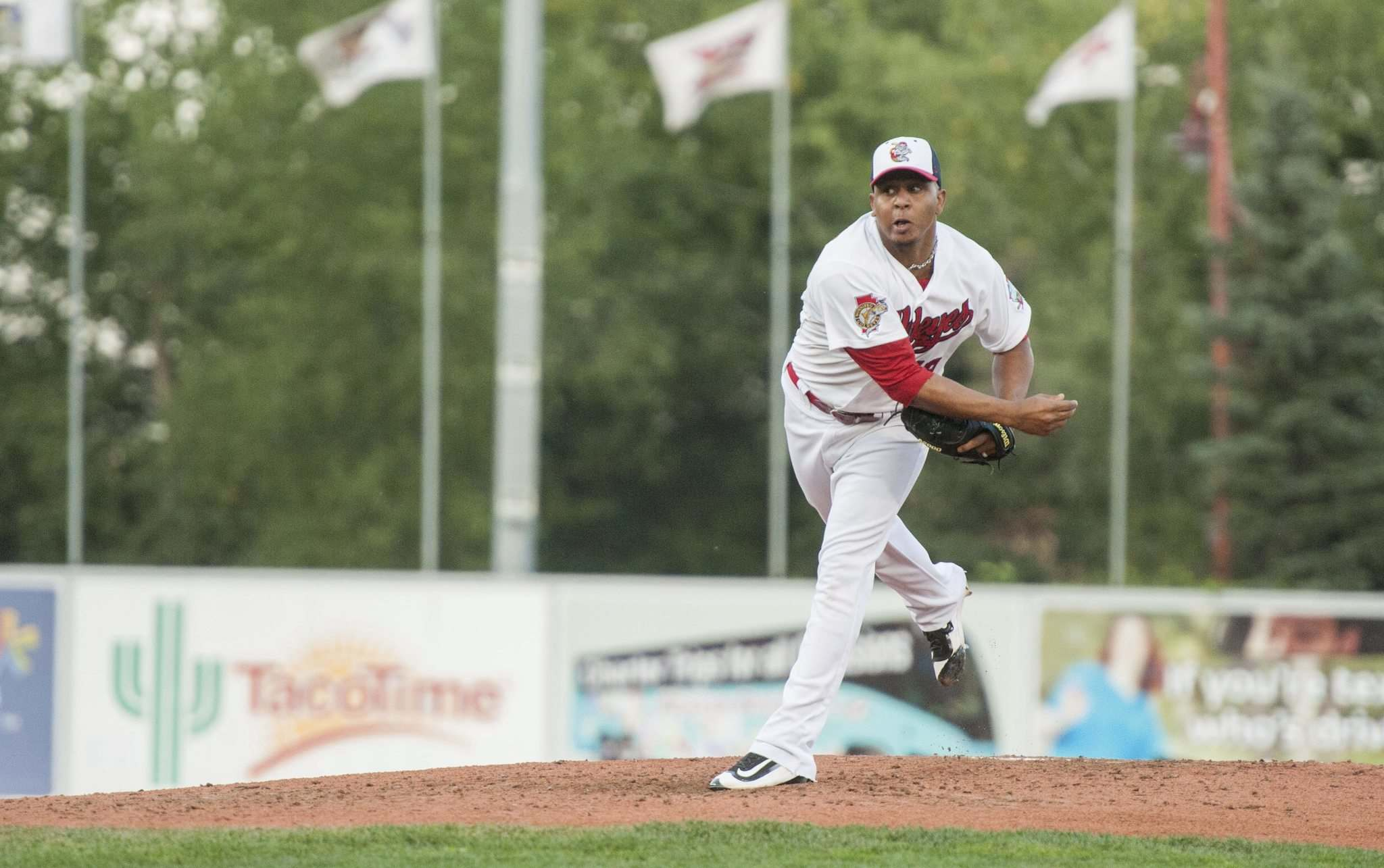 MIKE SUDOMA / WINNIPEG FREE PRESS </p><p>Charlie Rosario went seven innings strong which led to the Goldeyes victory over the Lincoln Saltdogs.</p>