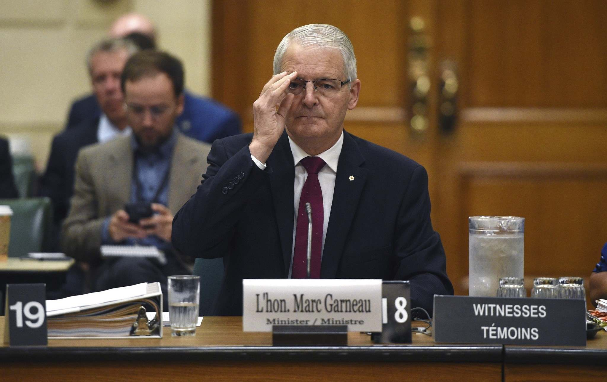 Sean Kilpatrick</p><p>/ The Canadian Press</p><p>Minister of Transport Marc Garneau appears as a witness at a committee on Parliament Hill in Ottawa on Thursday, Sept. 14, 2017.</p>
