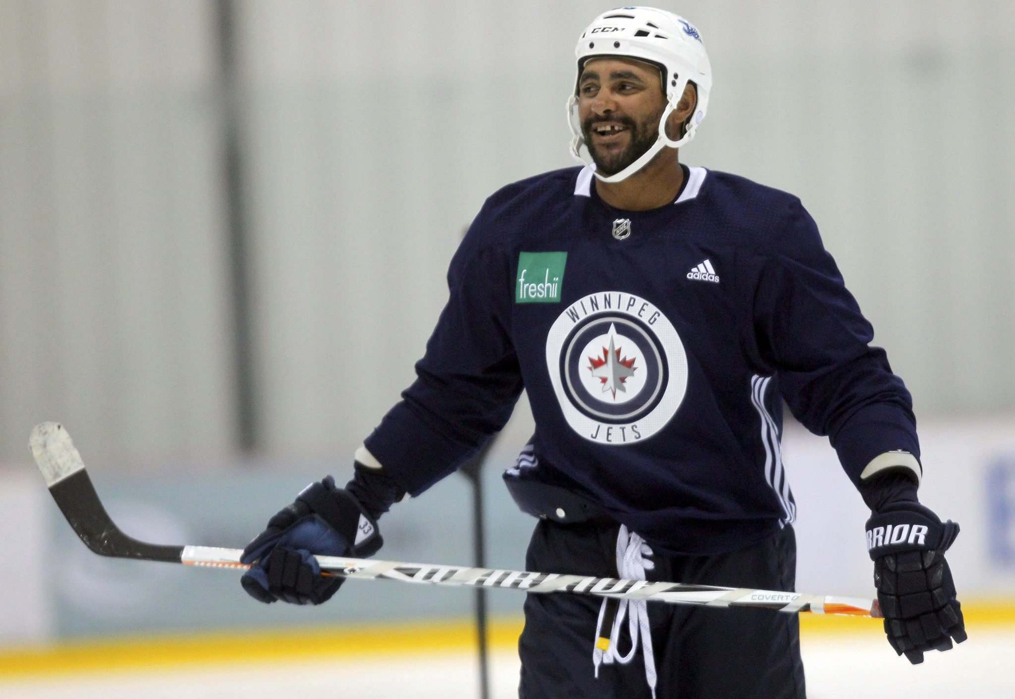 BORIS MINKEVICH / WINNIPEG FREE PRESS</p><p>The summer has been good to Byfuglien but he&#39;s happy to be back at work.</p>