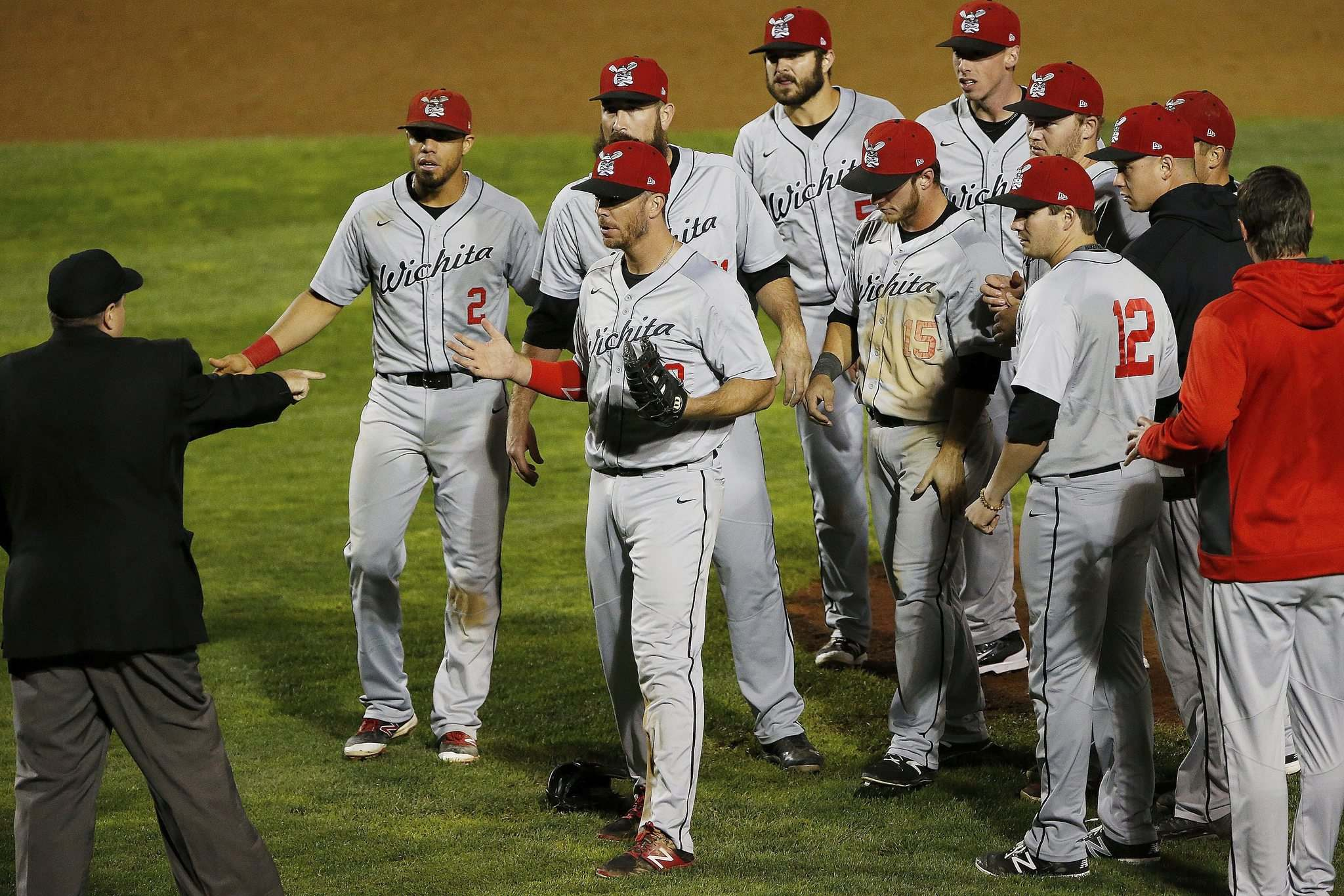JOHN WOODS / WINNIPEG FREE PRESS</p><p>Wichita thought they won the title on Monday, but Wingnuts players were shocked after a balk overturned celebrations. The Goldeyes capitalized on their opportunity and won Game 4 in 17 innings &mdash; the longest in league history.</p>