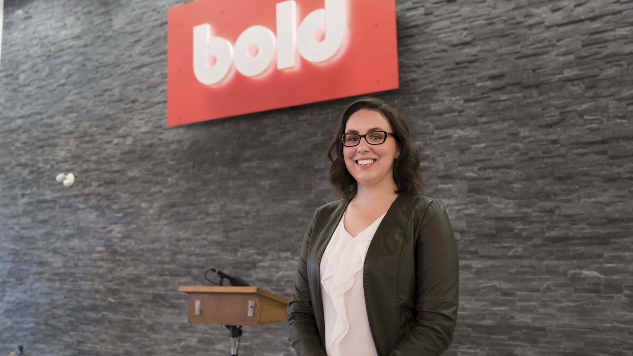 "Leanne Lucas just started at Bold as an account executive. ""A lot of people have started to hear about Bold and the culture here is great,"" she said.</p>"