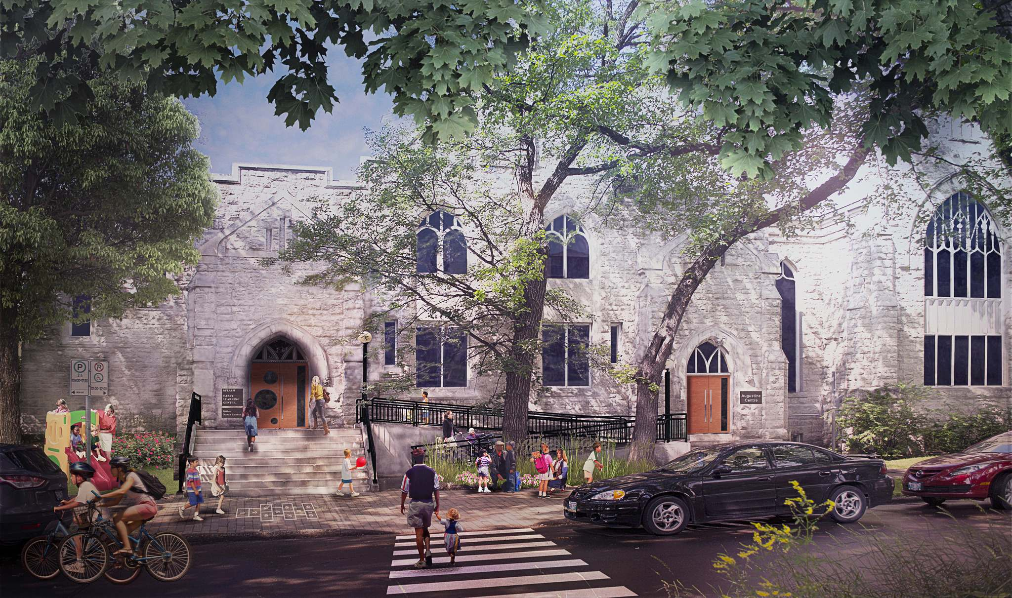 SvN ARCHITECTS + PLANNERS</p><p>Augustine United Church is planning a redevelopment of a portion of its historic River Avenue building, which will include the creation of a 10,000-square-foot daycare, in an effort to better engage the community and create new income.</p>