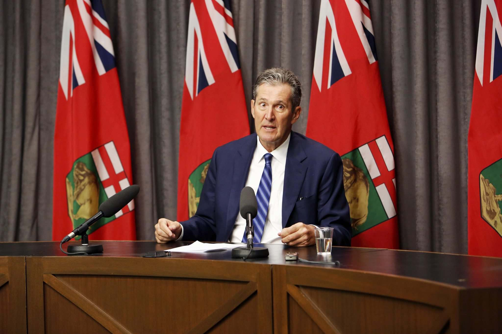 JUSTIN SAMANSKI-LANGILLE / WINNIPEG FREE PRESS FILES</p><p>Premier Brian Pallister opposes a federal carbon tax and instead favours a made-in-Manitoba climate and green plan that he says would be better tailored to the province's reality.</p>
