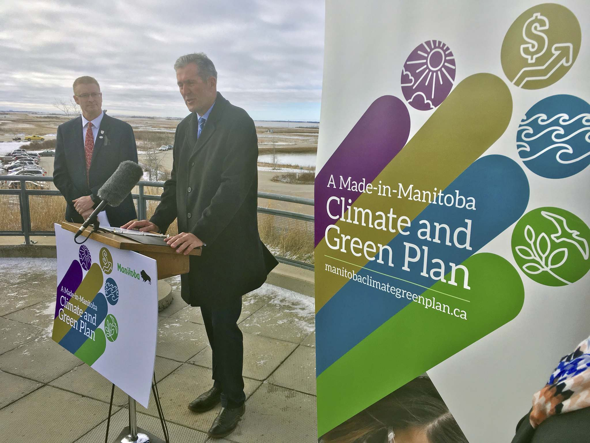 BORIS MINKEVICH / WINNIPEG FREE PRESS</p><p>Premier Brian Pallister released <em>A Made-in-Manitoba Climate and Green Plan</em> today at Oak Hammock Marsh. </p>