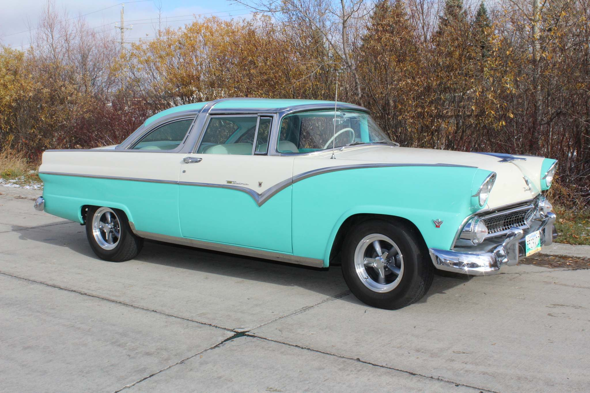 Photos by Larry D'Argis / Winnipeg Free PressA supportive wife and a little bit of luck helped Ford collector David Denby land his ideal 1955 Crown Victoria.