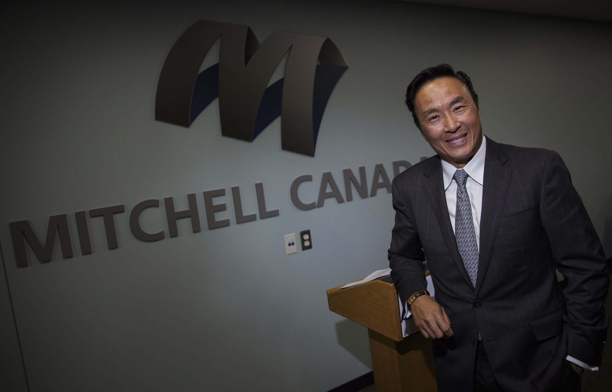 MIKE DEAL / WINNIPEG FREE PRESS</p><p>Alex Sun, CEO for Mitchell International, a San Diego-based firm that works closely with MPI. The company has moved into the former MPI claims centre on Pembina Hwy., making Winnipeg its location for its Canadian head office.</p>