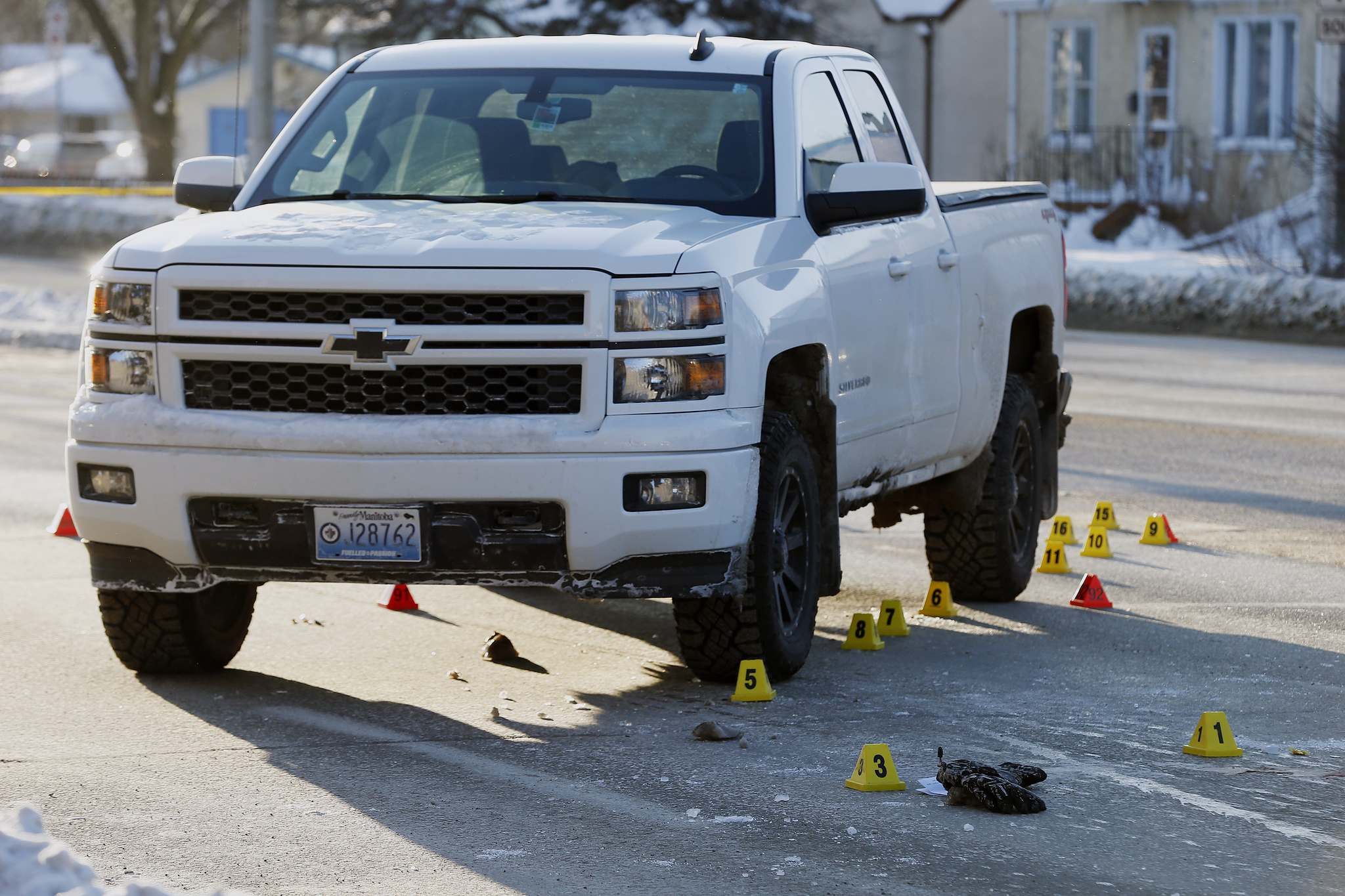 JOHN WOODS / FREE PRESS FILES</p><p>The woman was crossing Henderson when she was run into by a Chevrolet Silverado making a turn from Kimberly Avenue.</p>