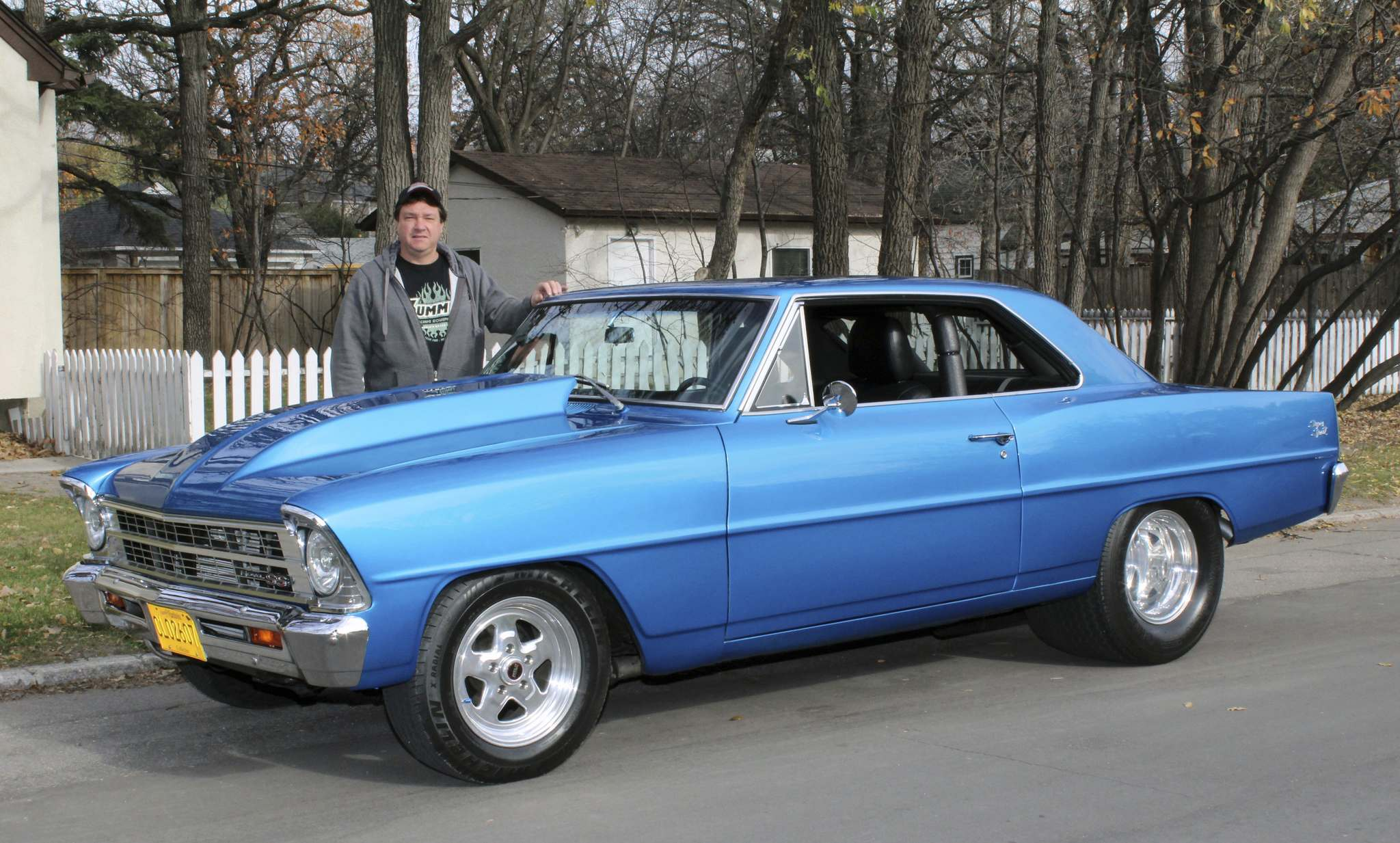 Photos by Larry D'Argis / Winnipeg Free PressDave Geraldi is pumped about his 1967 Chevy Nova SS hardtop. He scored the ride out of classified ads in the Niagara Falls area, and he's taken the blue beauty to car shows and cruise nights.