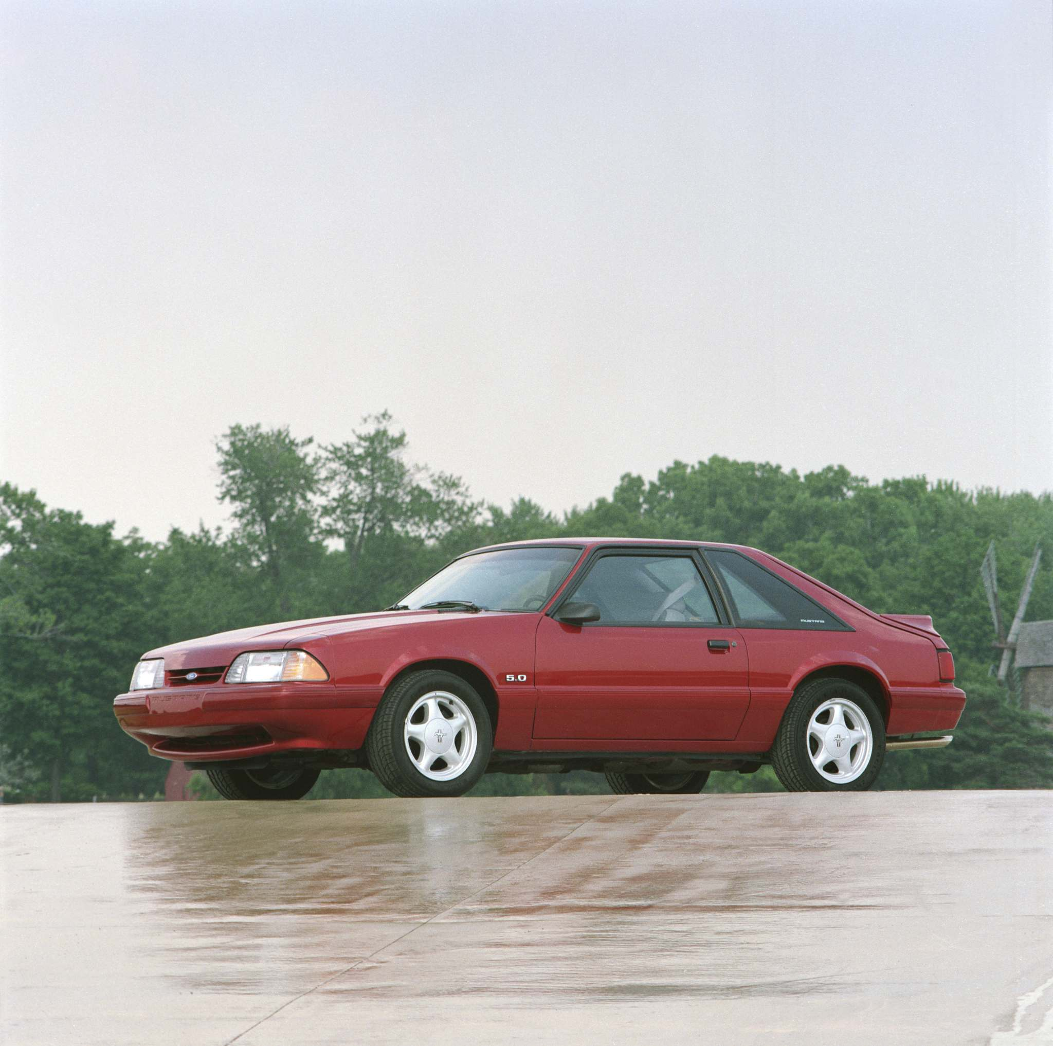 1992 Mustang LX 5.0. The stealthy Mustang Fox Body develops a cult following.  (Ford)
