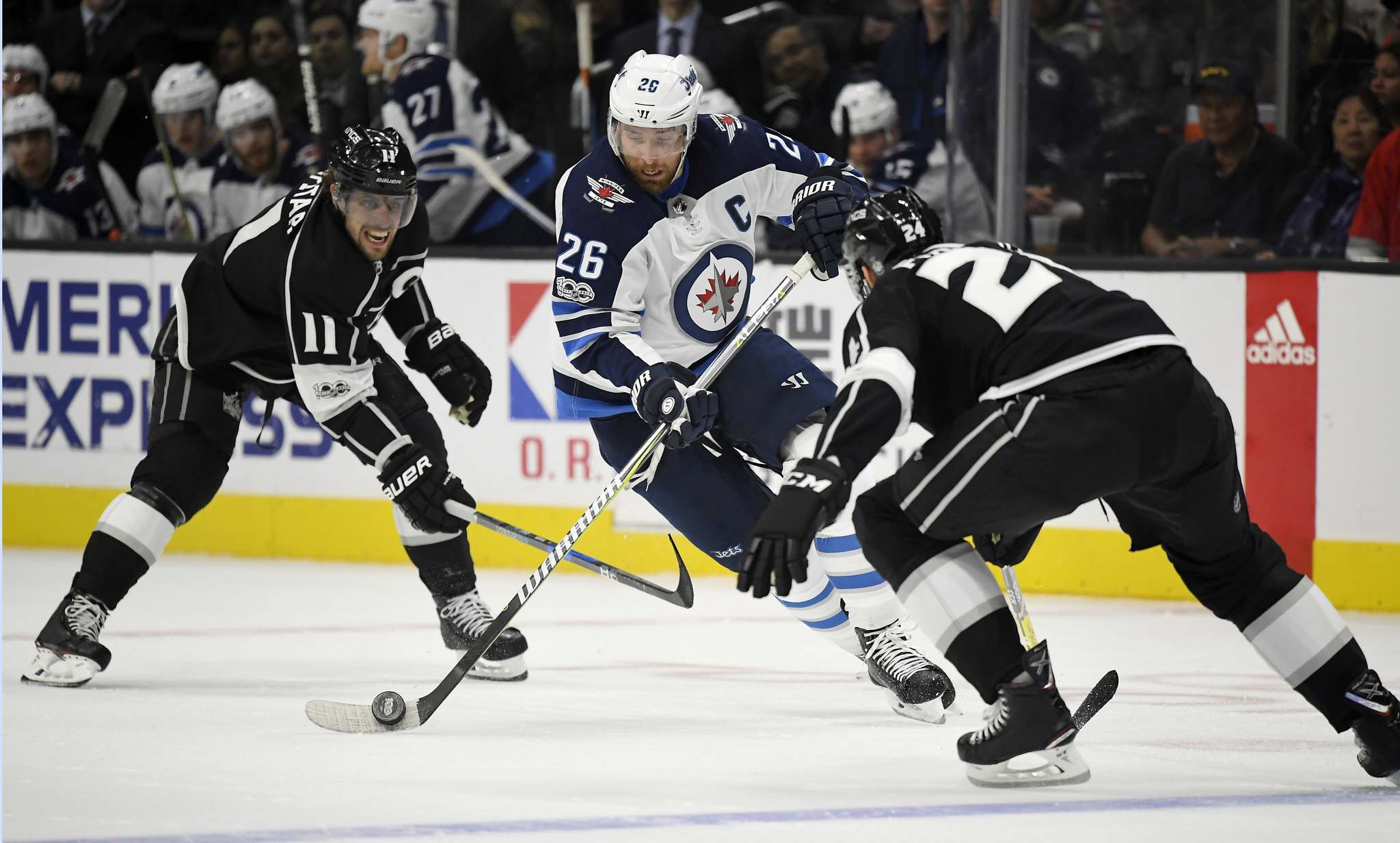 Jets clip Kings 2-1 in closely contested affair