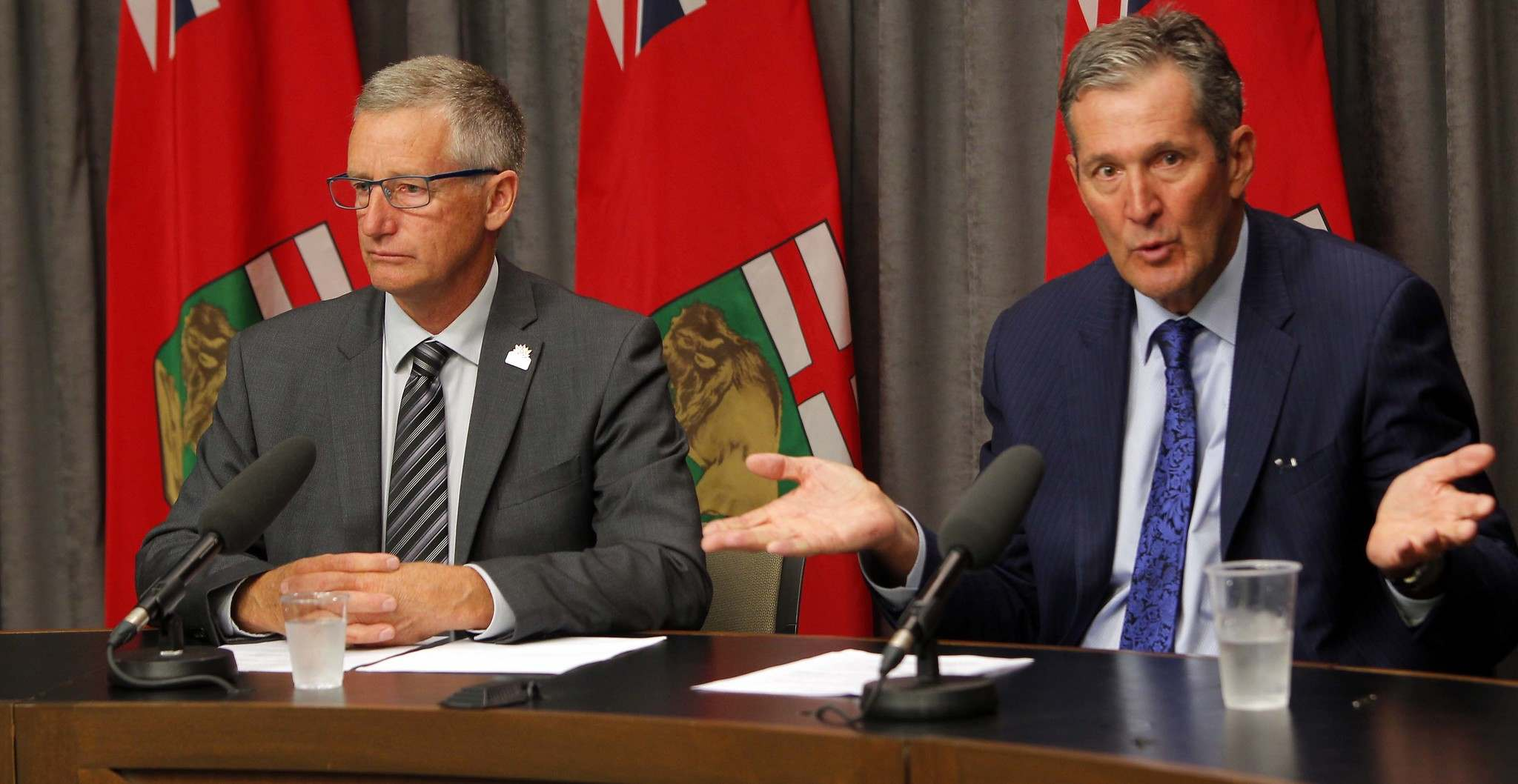 BORIS MINKEVICH / WINNIPEG FREE PRESS FILES</p><p>Infrastructure Minister Blaine Pedersen and Premier Brian Pallister. </p>