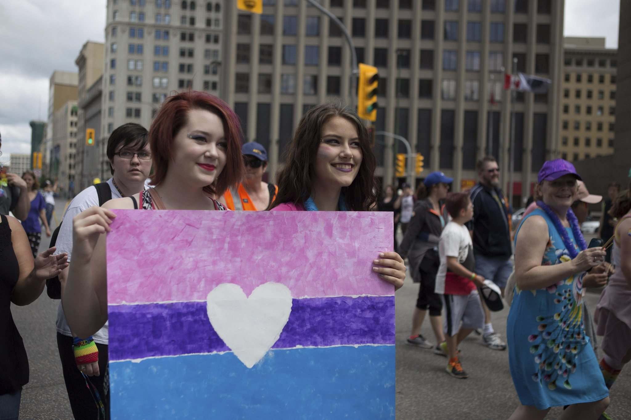 JEN DOERKSEN / WINNIPEG FREE PRESS FILES</p><p>Thousands of Winnipeggers rallied, danced and marched in the 30th annual Pride Parade on Sunday, June 4, 2017.</p>