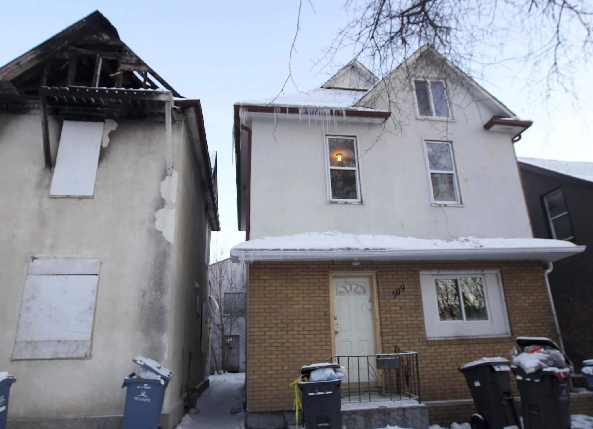 JOE BRYKSA / WINNIPEG FREE PRESS files</p><p>Cynthia Huntinghawk was killed at this William Avenue house in 2016. Sisters Candice and Vanessa Nepinak were sentenced Wednesday.</p>