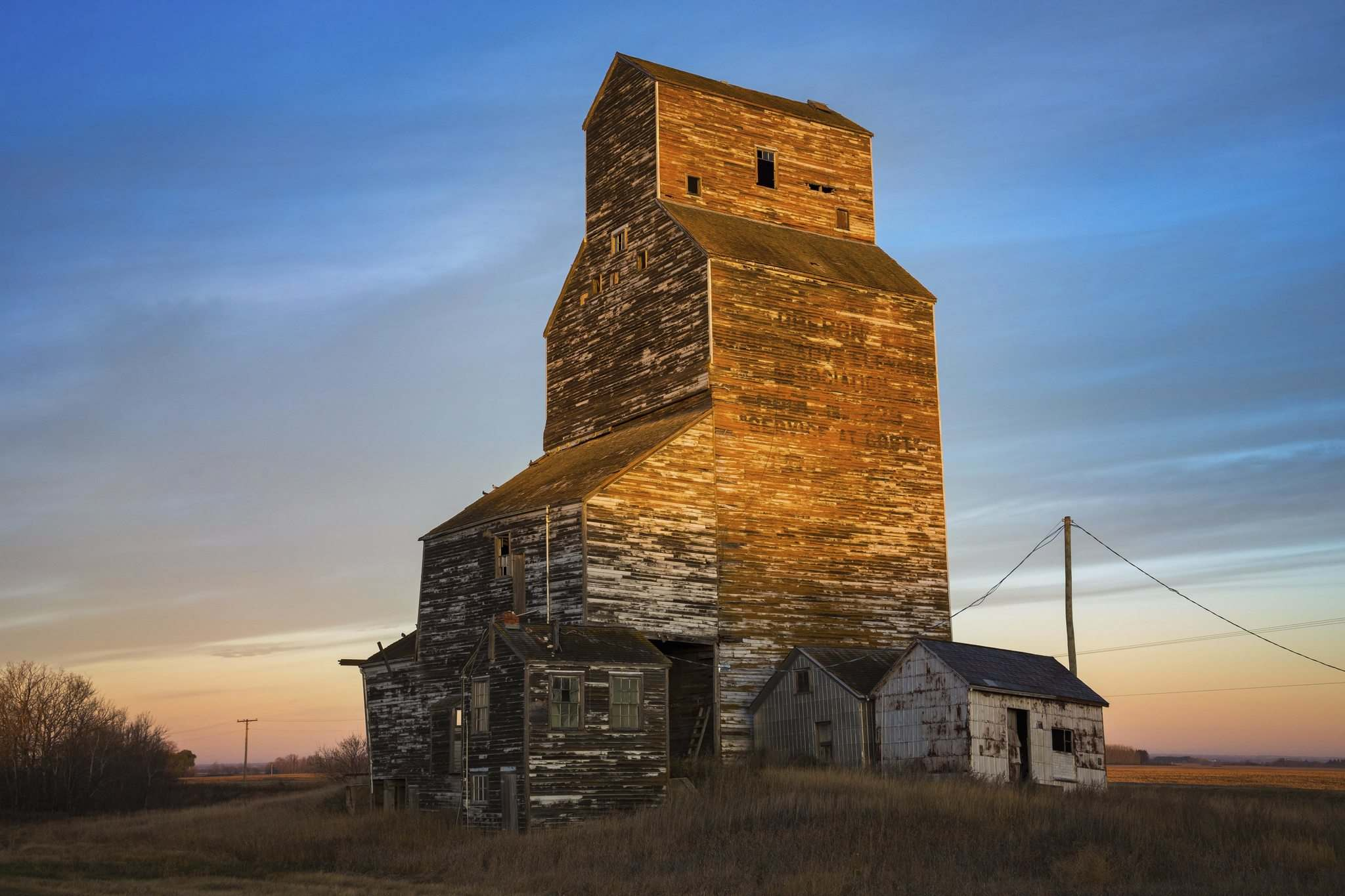 Bryan Scott photo</p><p>Decaying grain elevators like this one in Oberon are among the rural landmarks that haunt the pages of the latest collaboration between writer/reporter Bartley Kives and photographer Byran Scott.