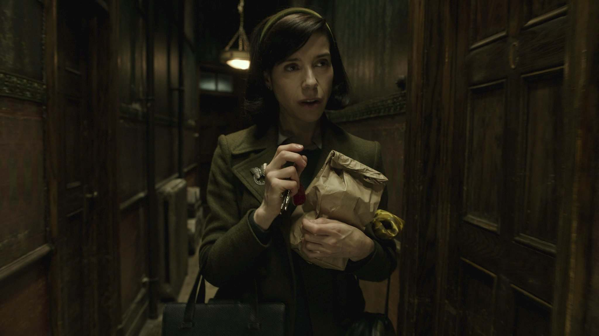 Sally Hawkins plays Elisa Esposito in Guillermo del Toro's The Shape of Water. Hawkins takes on the role with all the humour and courage of her character.</p></p>(Photos by Kerry Hayes)</p><p>
