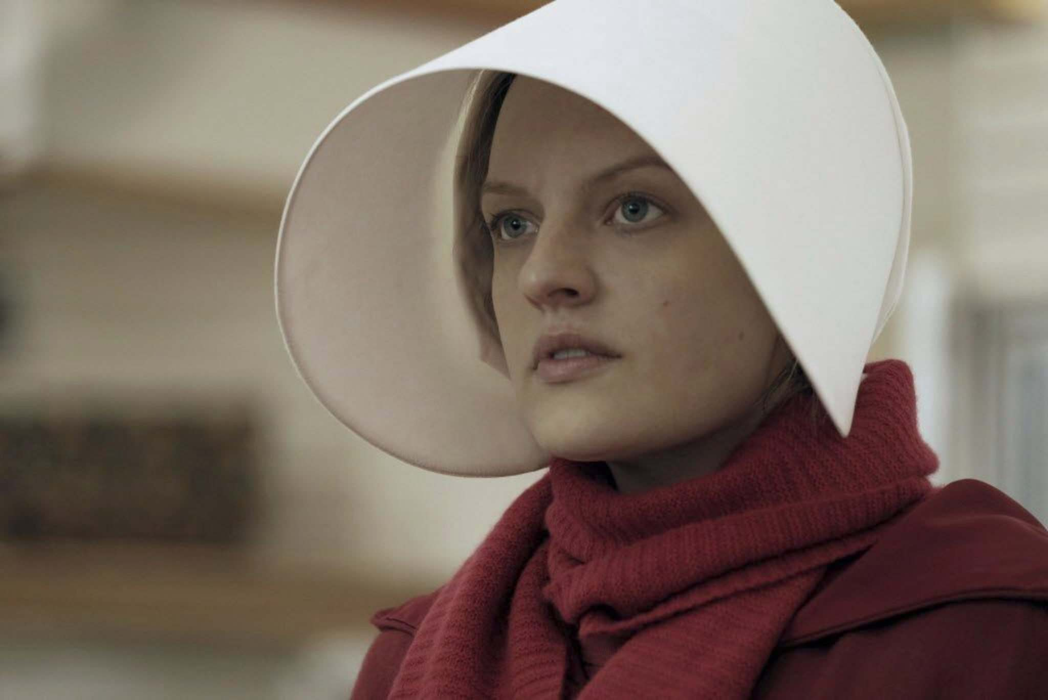 George Kraychyk / Hulu</p><p>Elisabeth Moss won an Emmy for her portrayal of Offred in The Handmaid's Tale.</p></p>