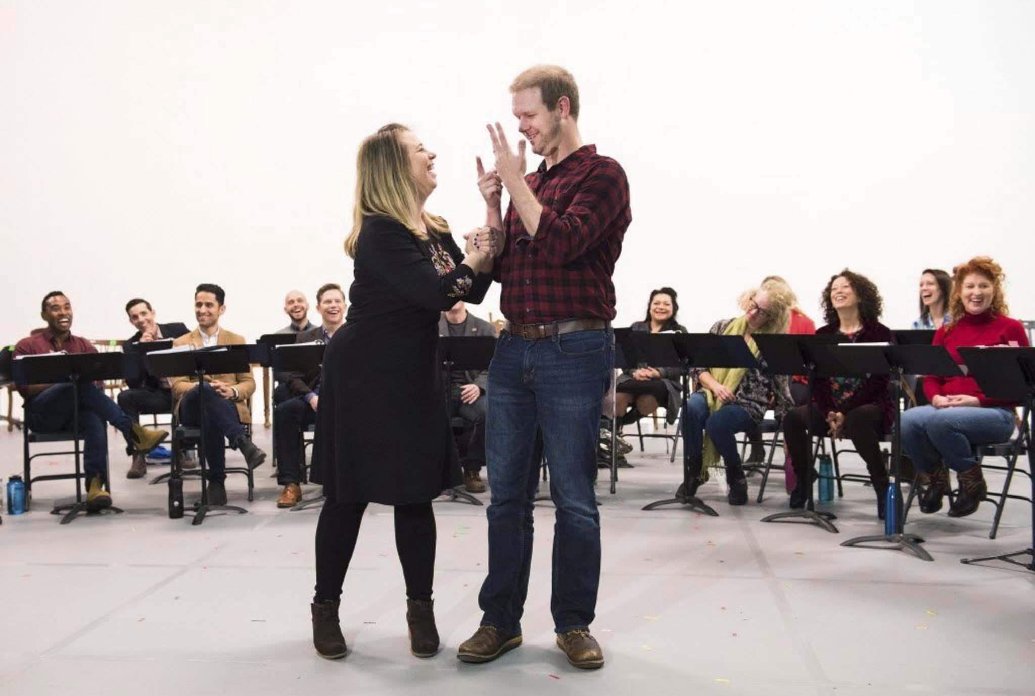 Nathan Denette / The Canadian Press</p><p>Irene Sankoff (left) and her husband David Hein, who wrote the book, music and lyrics of Mirvish&rsquo;s Come From Away.</p></p>