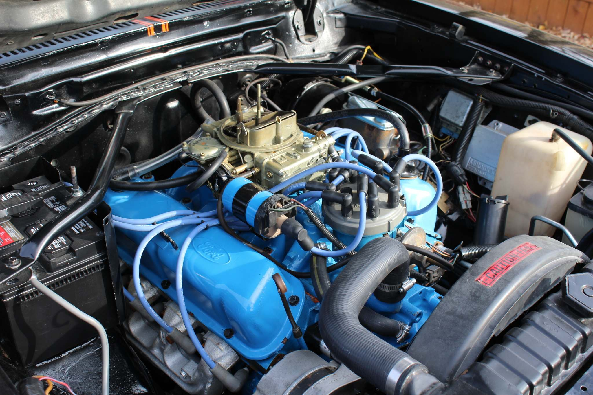 The 5.0 V-8 was rebuilt and a number of performance parts were added to boost horsepower.