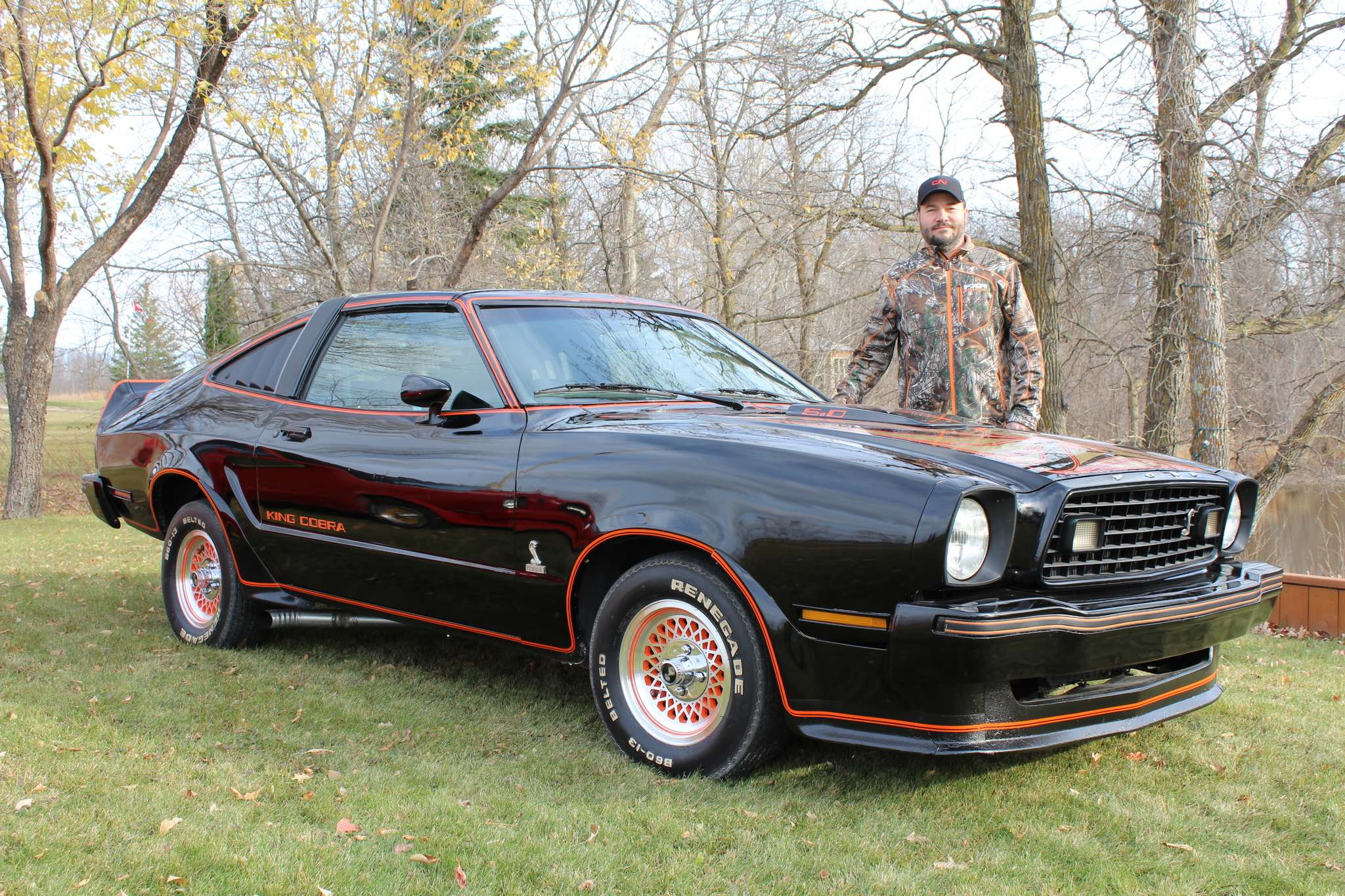 Bill bonni of beausejour found this black ford mustang king cobra for sale online and purchased