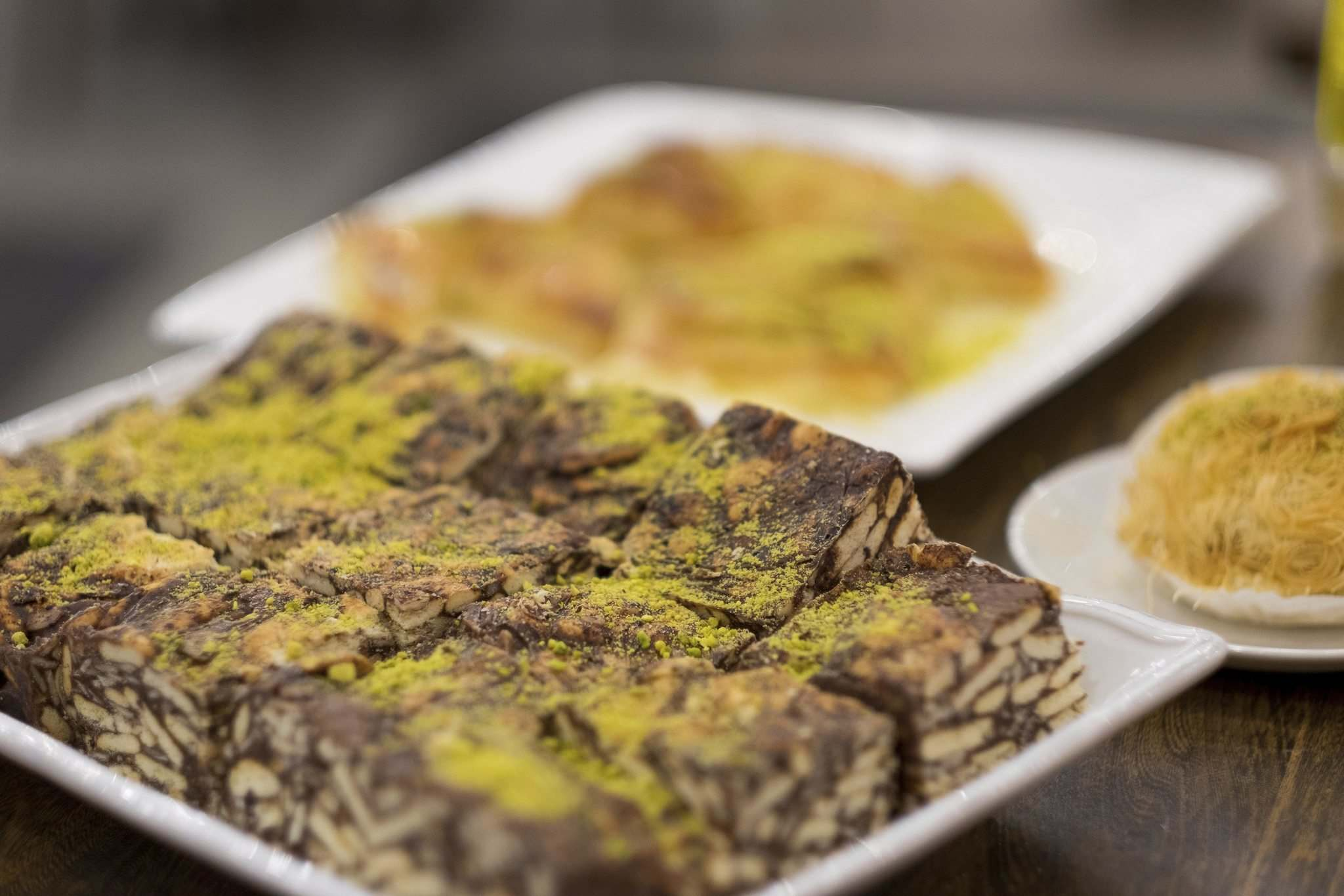 Daniel Crump / Winnipeg Free Press</p><p>Lazy Cake at Yafa Cafe is topped with crushed pistachios.</p>