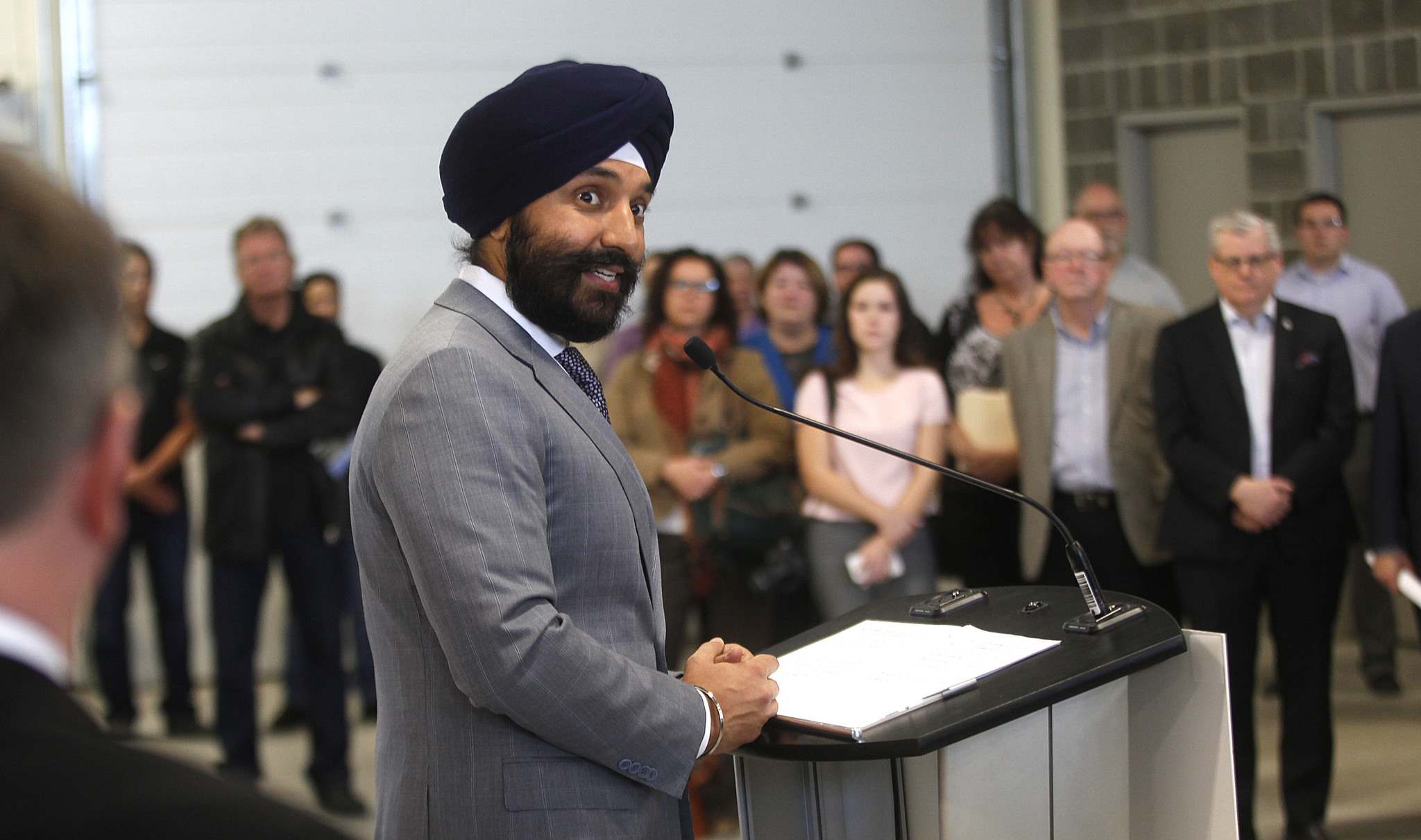 PHIL HOSSACK / WINNIPEG FREE PRESS</p><p>Navdeep Bains, federal minister of innovation, science and economic development and minister responsible for western economic diversification</p>