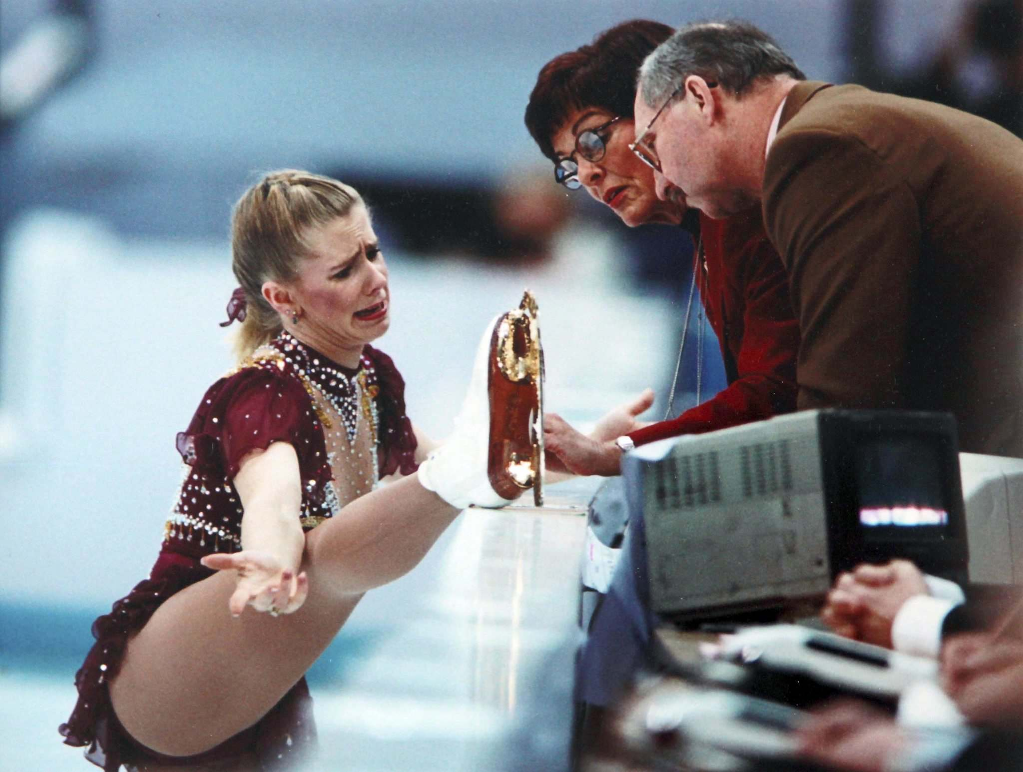 Tonya Harding&rsquo;s iconic moment was captured by the Free Press&rsquo;s own Boris Minkevich, fresh out of college at the time and having wheeled and dealed his way to the 1994 Winter Olympics in Lillehammer. (Boris Minkevich photo)</p>