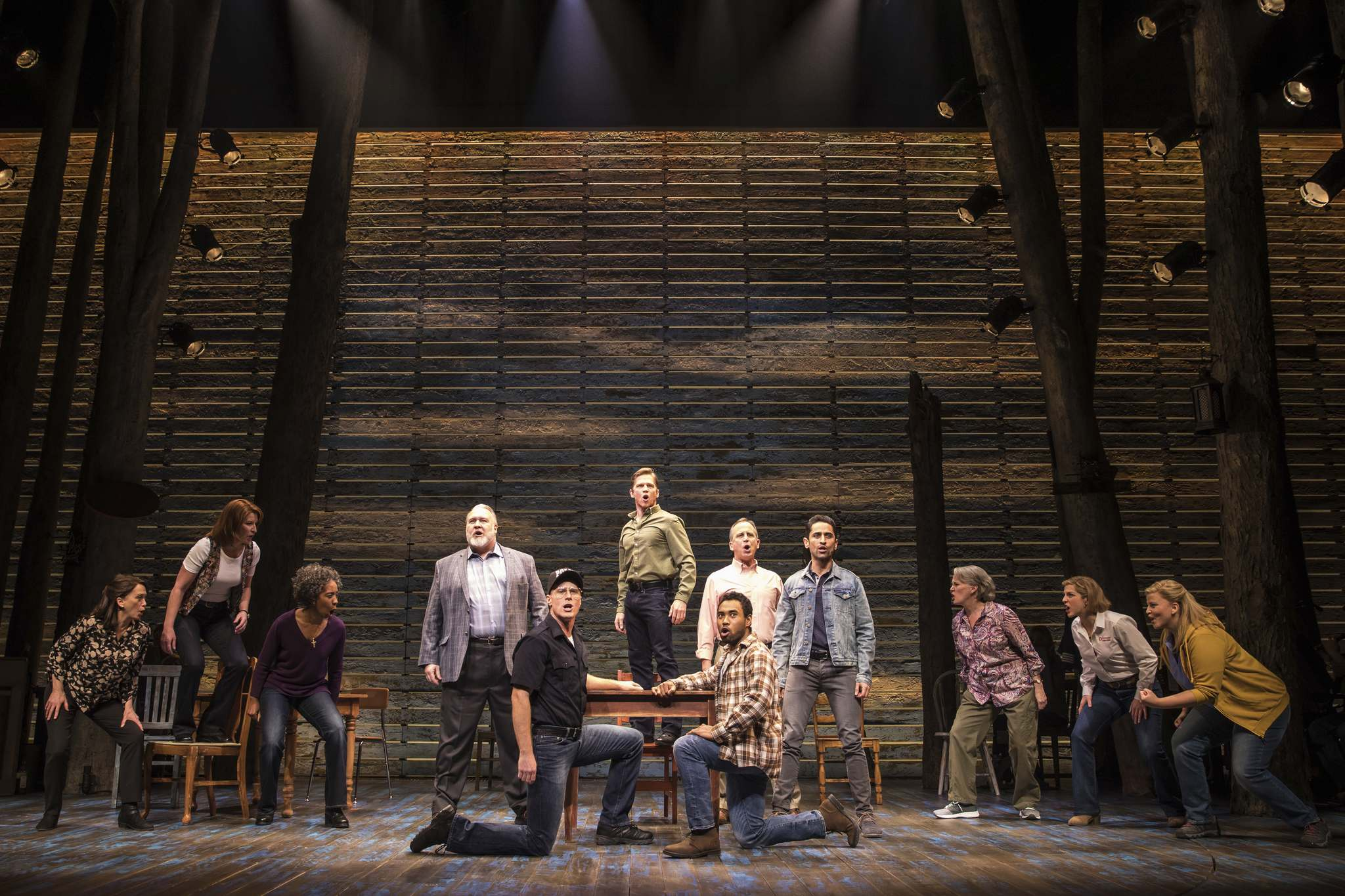 Matthew Murphy / Canadian Company</p><p>If Come From Away goes into production for a feature-length film, the cast could swell to roughly 60 from the 12 it takes to put on the stage production.</p>